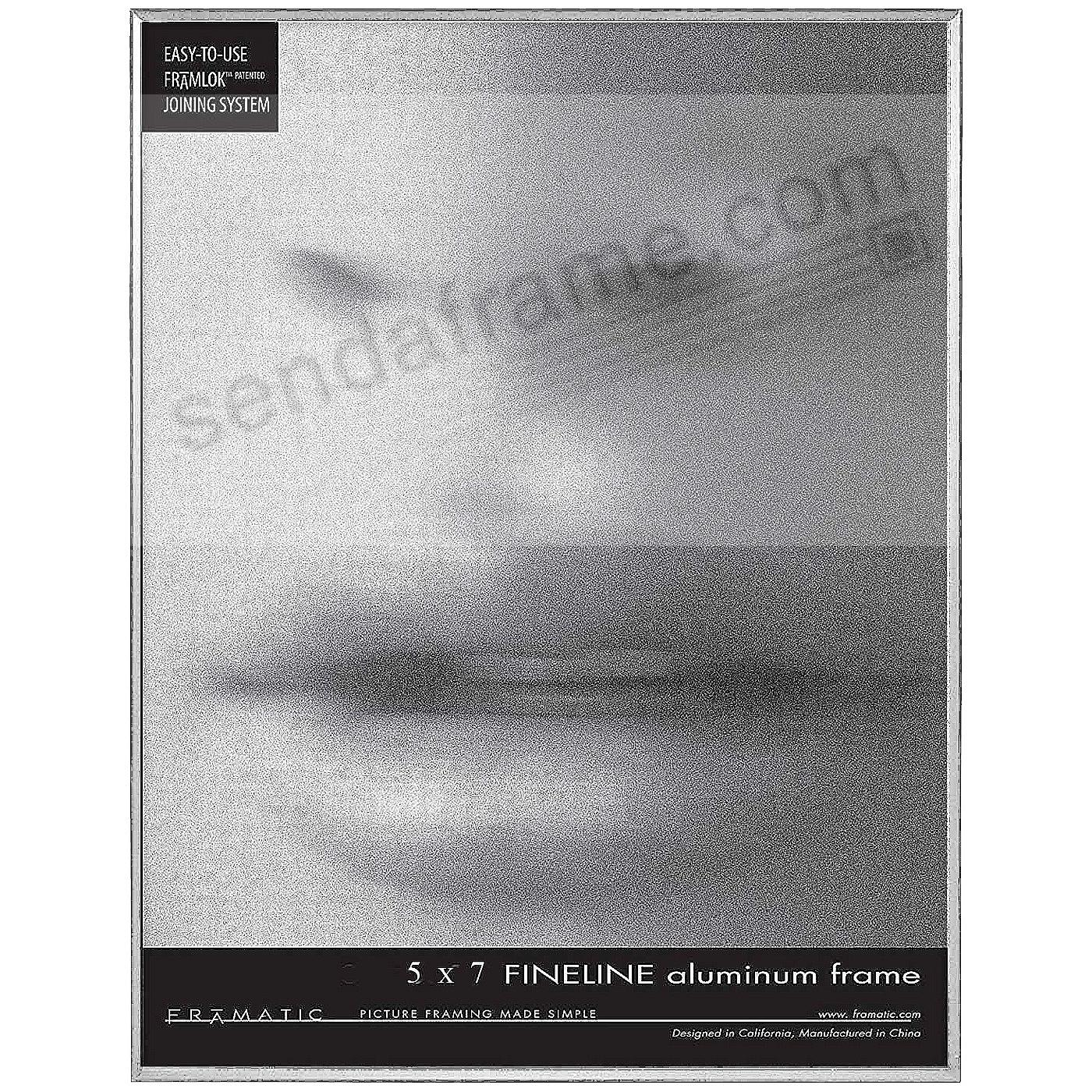 FINELINE Silver Aluminum 5x7 by Framatic®