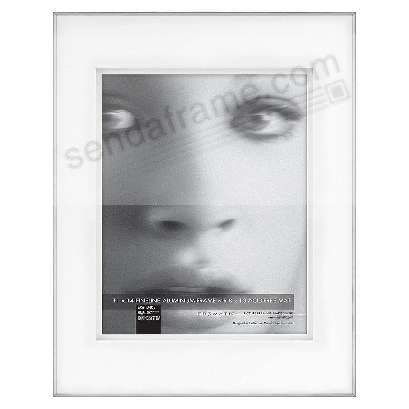 FINELINE Silver Aluminum Shadow-Mat 11x14/8x10 by Framatic®
