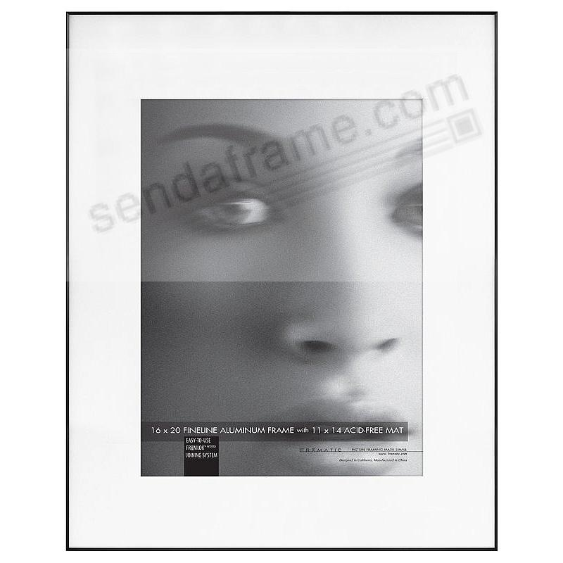 FINELINE Black Aluminum 16x20/11x14 Matted by Framatic®