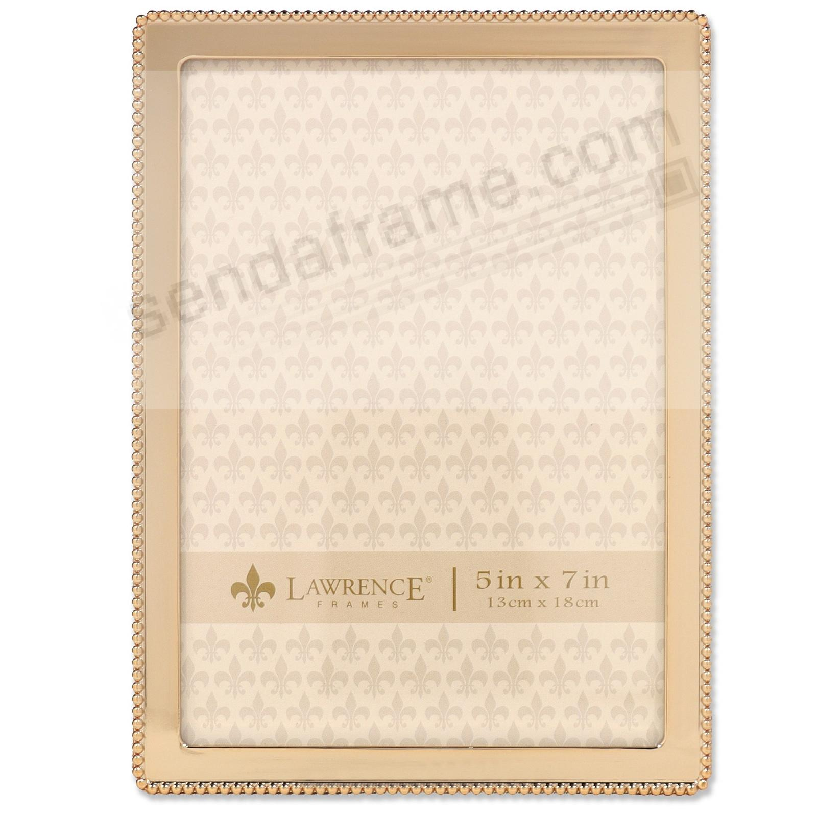 Beaded Trim Gold finish 5x7 frame by Lawrence®