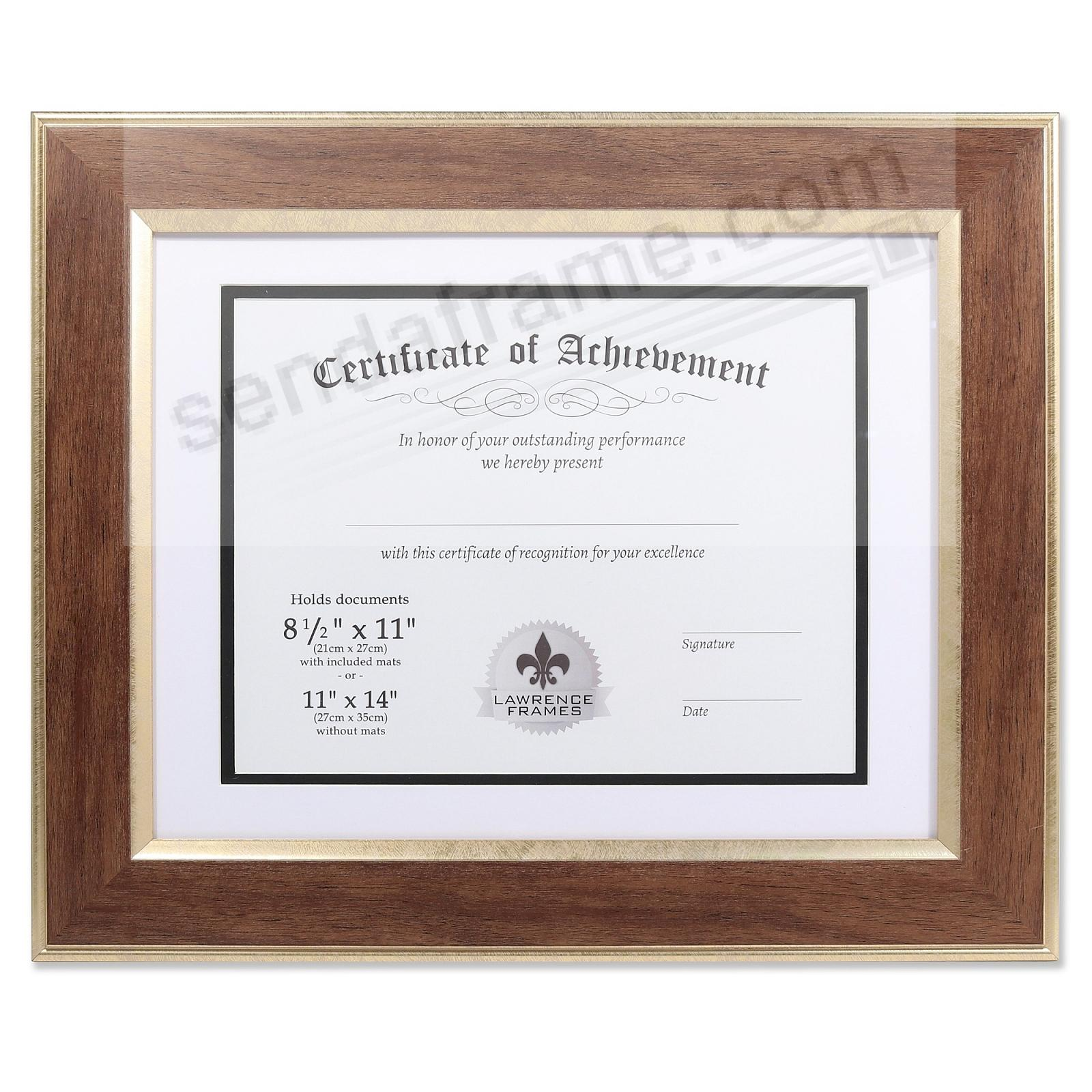 Walnut-Brown Document Matted 14x11/11x8½ (DUAL USE) by Lawrence®