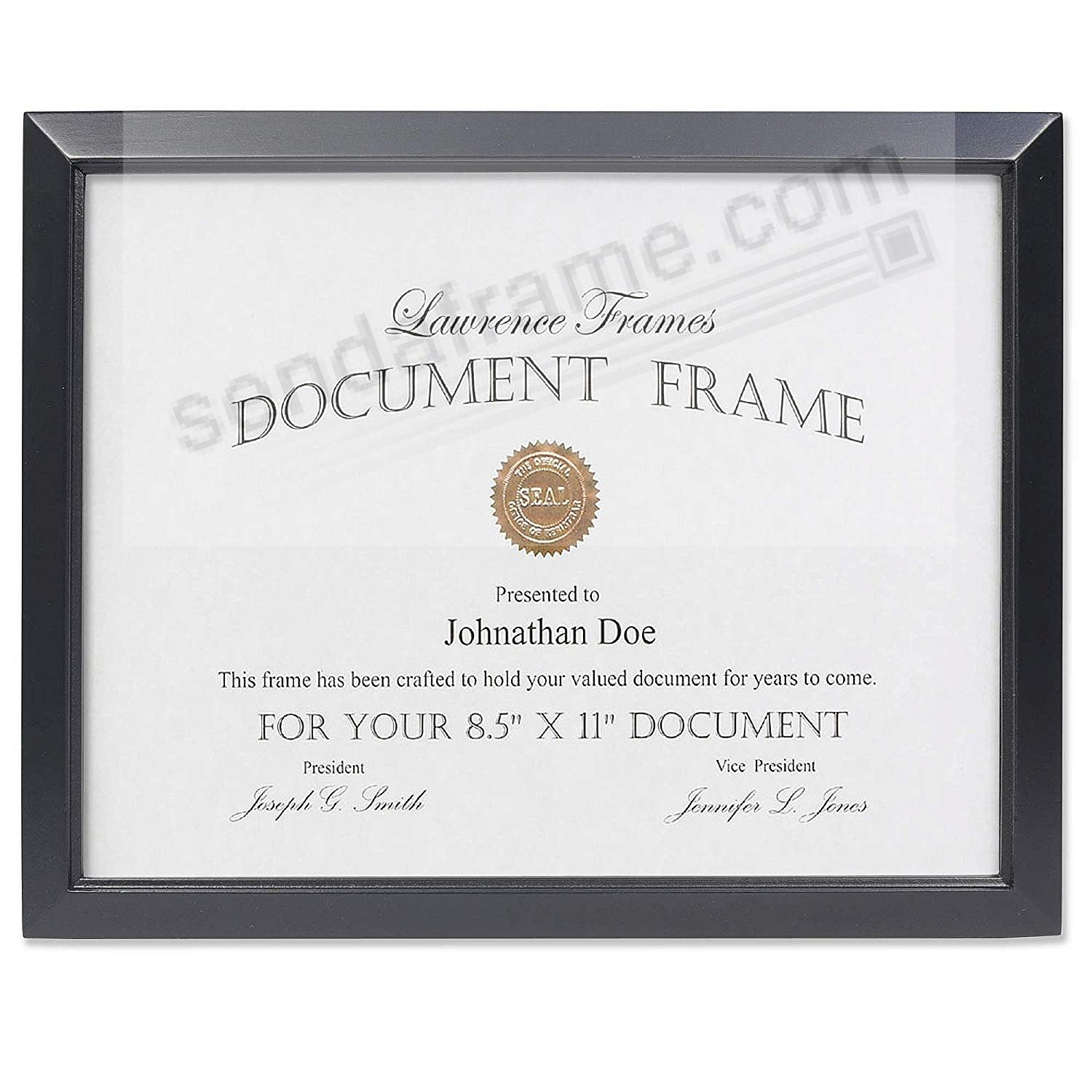 ESTERO Black Wood Certificate frame by Lawrence Frames®