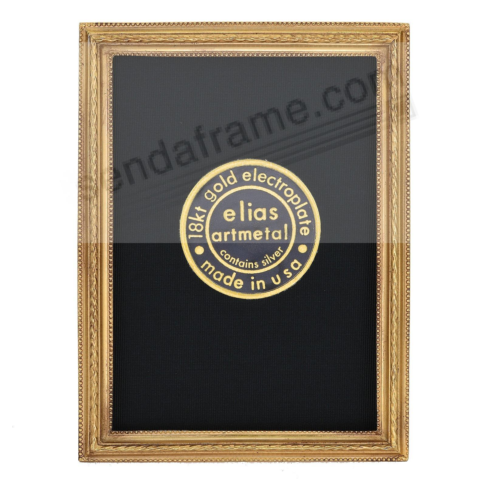 CAPSTONE 18kt Gold Vermeil over Fine Pewter frame 2½x3½ by Elias Artmetal®