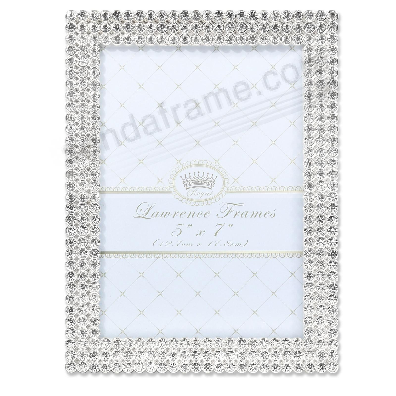 JULIET WHITE CRYSTAL JEWELS + SILVER 5x7 frame
