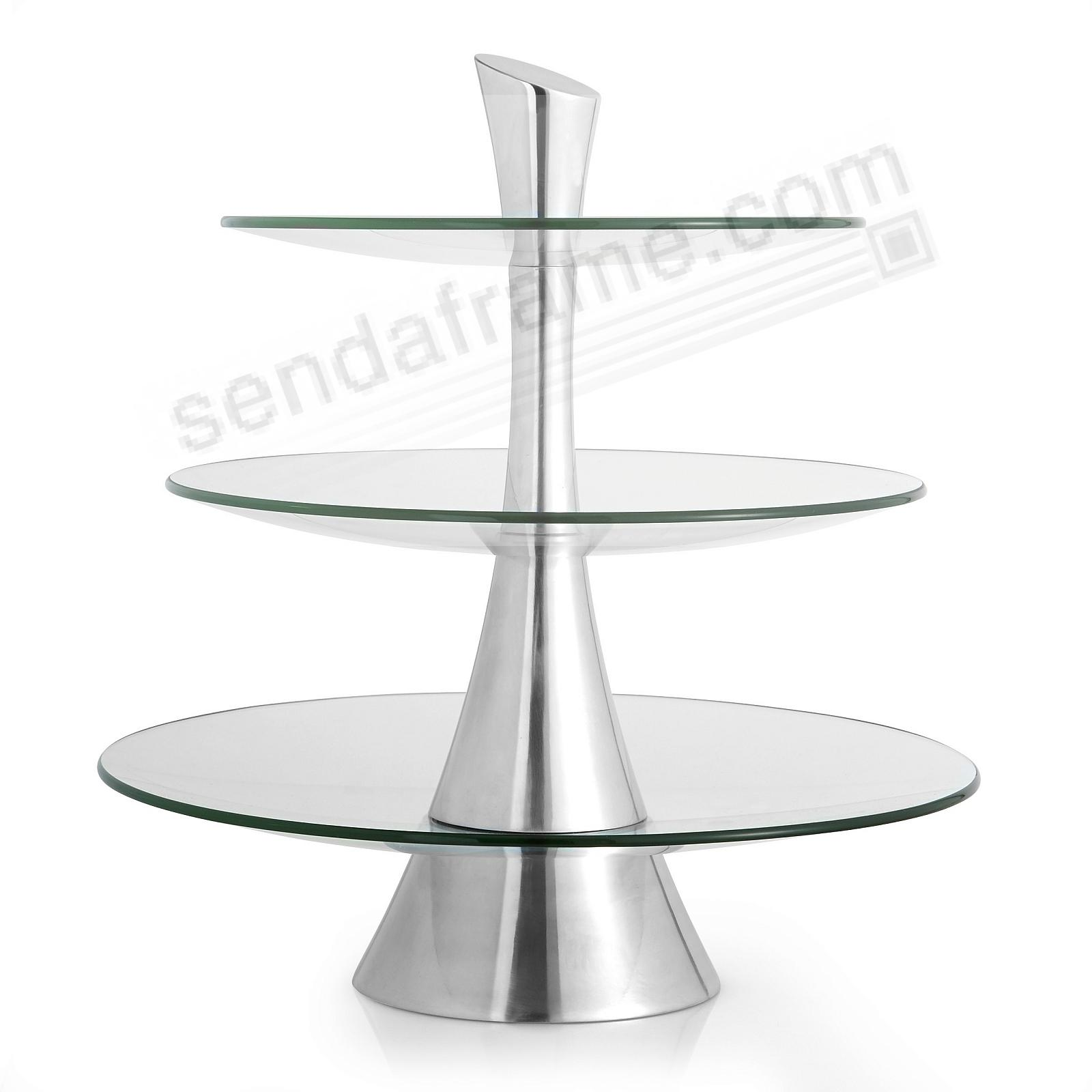 TRIPLE TIER SERVER by Nambe®