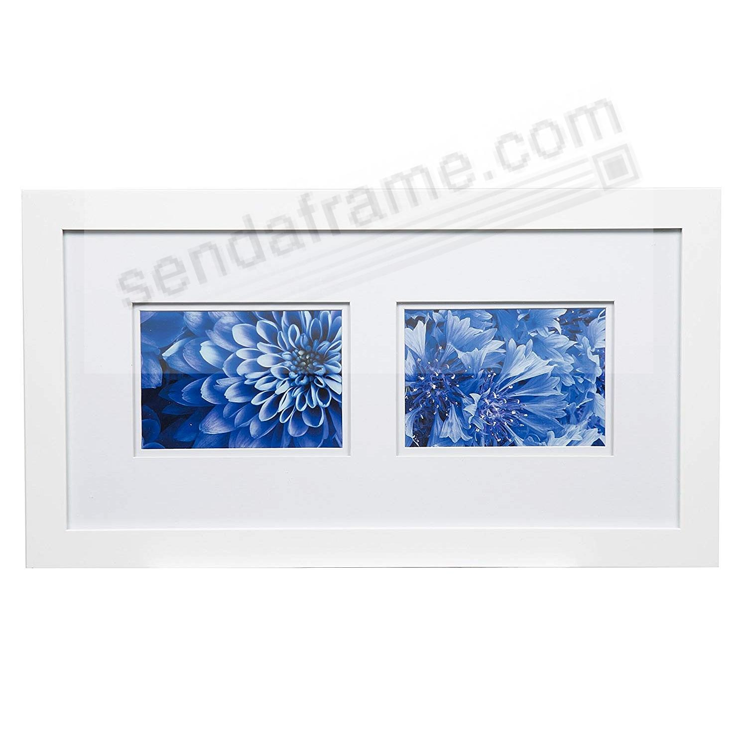 WHITE 20x10/5x7 double matted frame by Gallery Solutions™