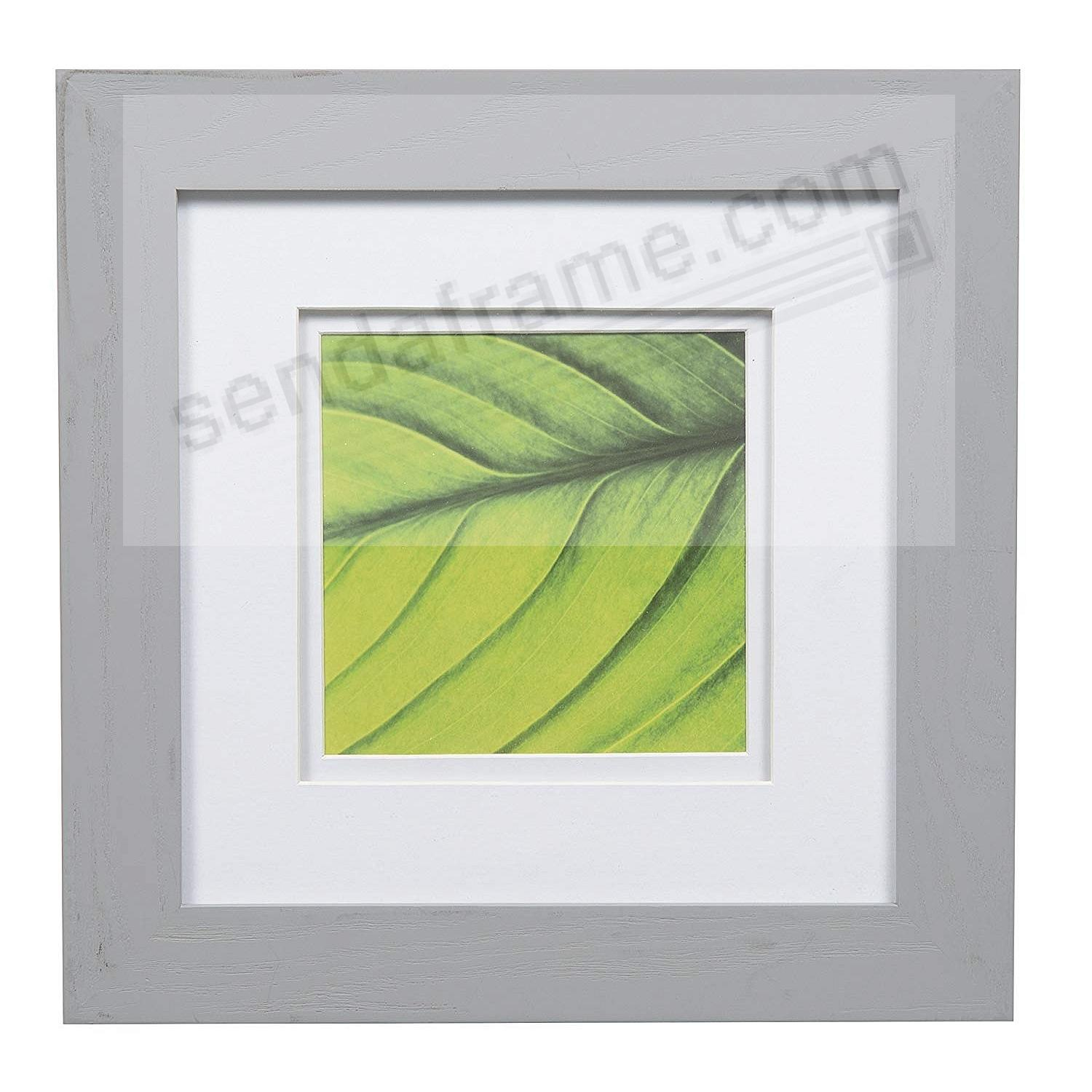 BRUSHED SILVER 8x8/5x5 double matted frame by Gallery Solutions™