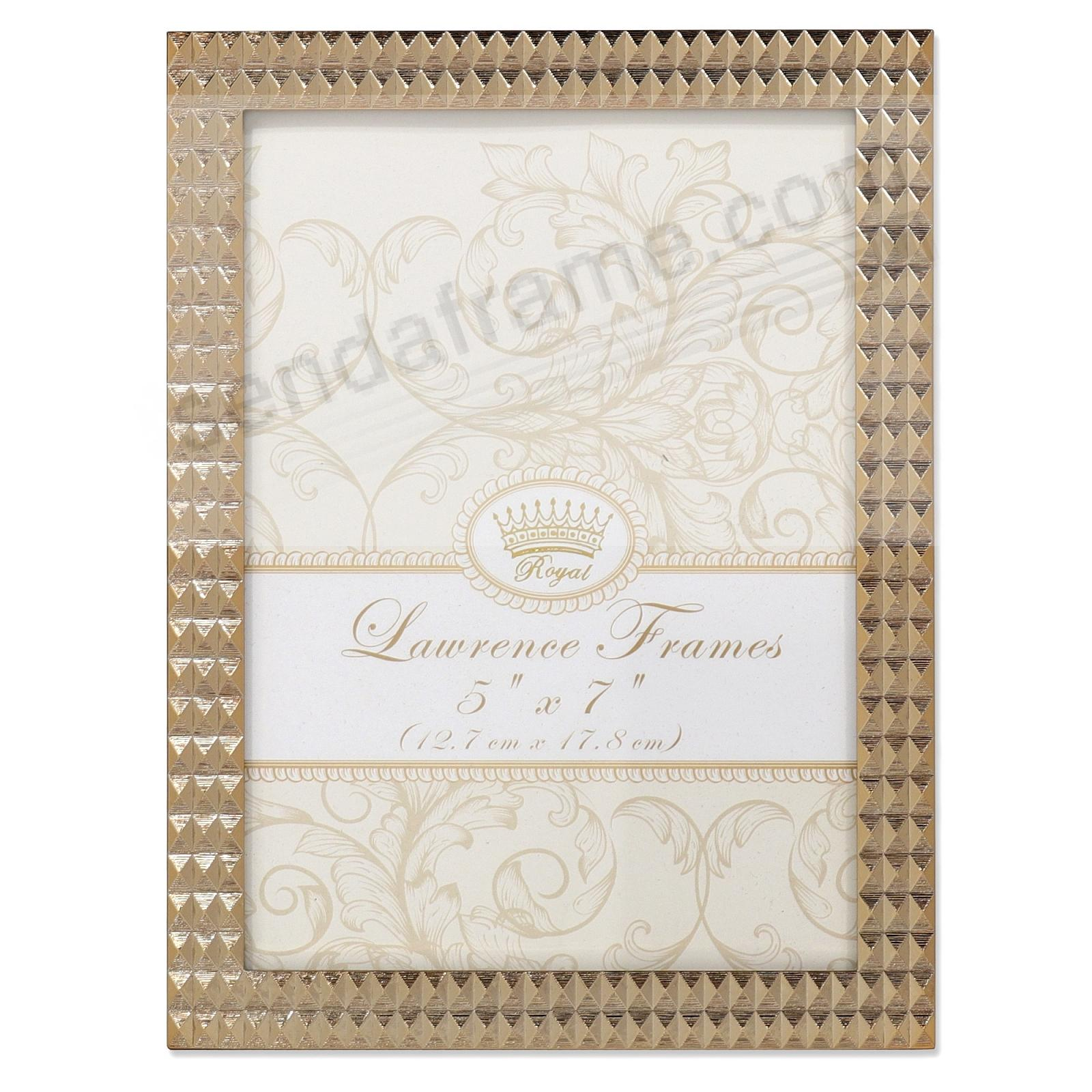 GOLD DIAMOND PATTERN 5x7 Frame by Lawrence®