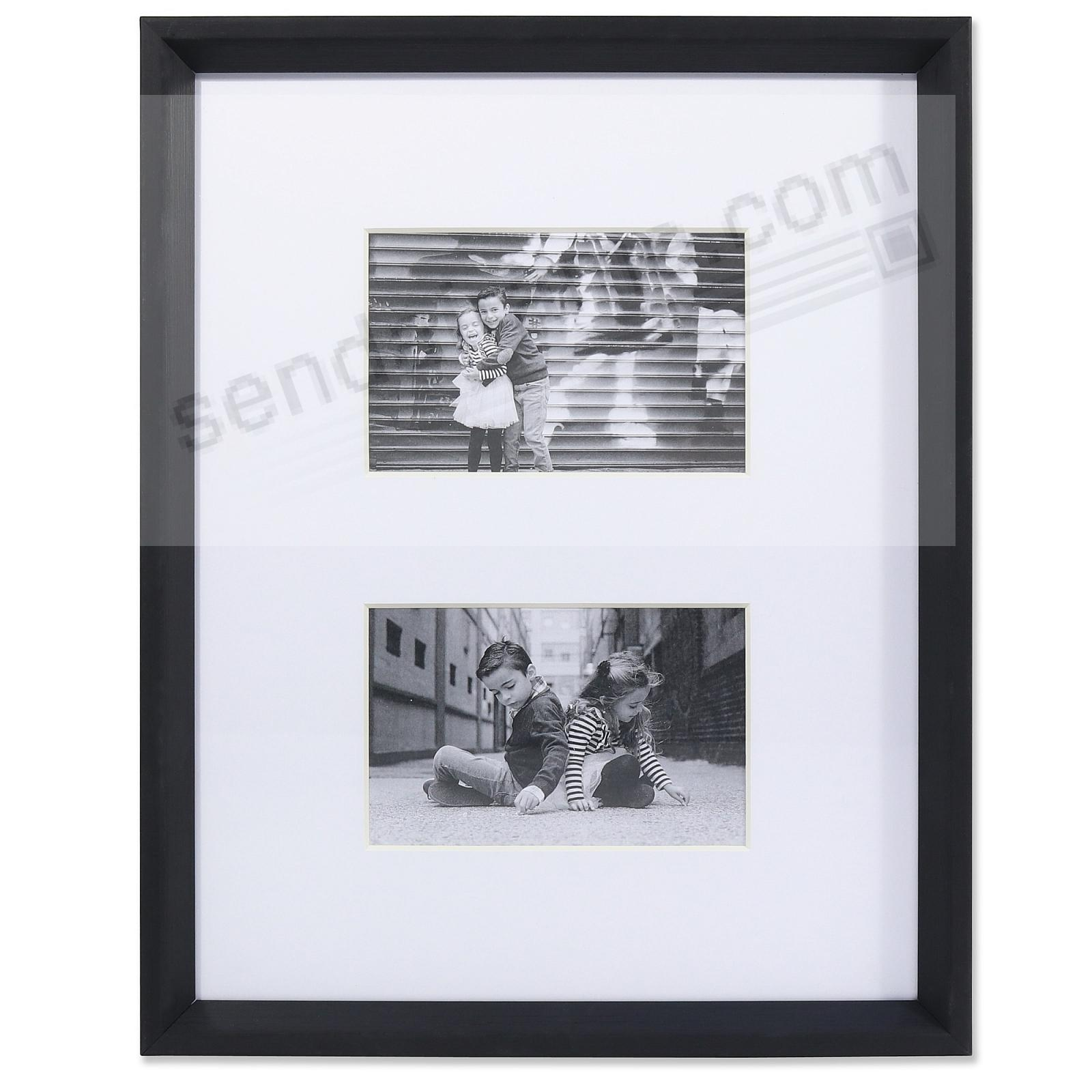 GALLERY BLACK matted collage displays (2) 4x6/11x14 prints by Lawrence®