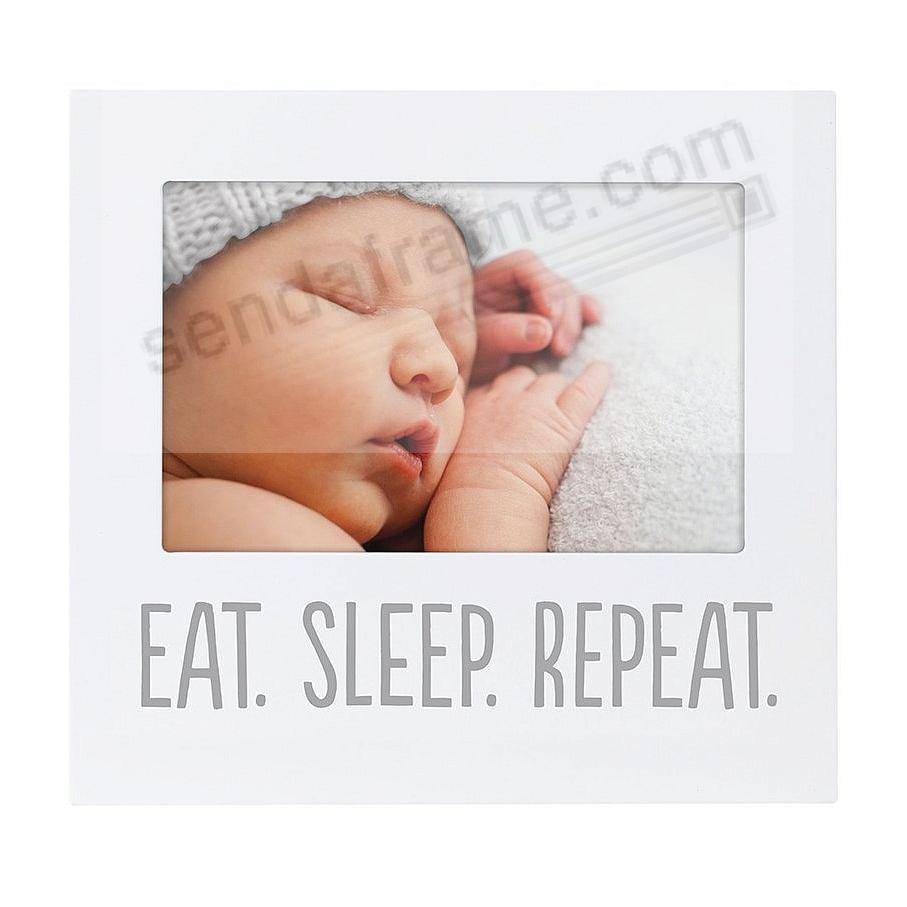 EAT. SLEEP. REPEAT. White keepsake frame by Pearhead®