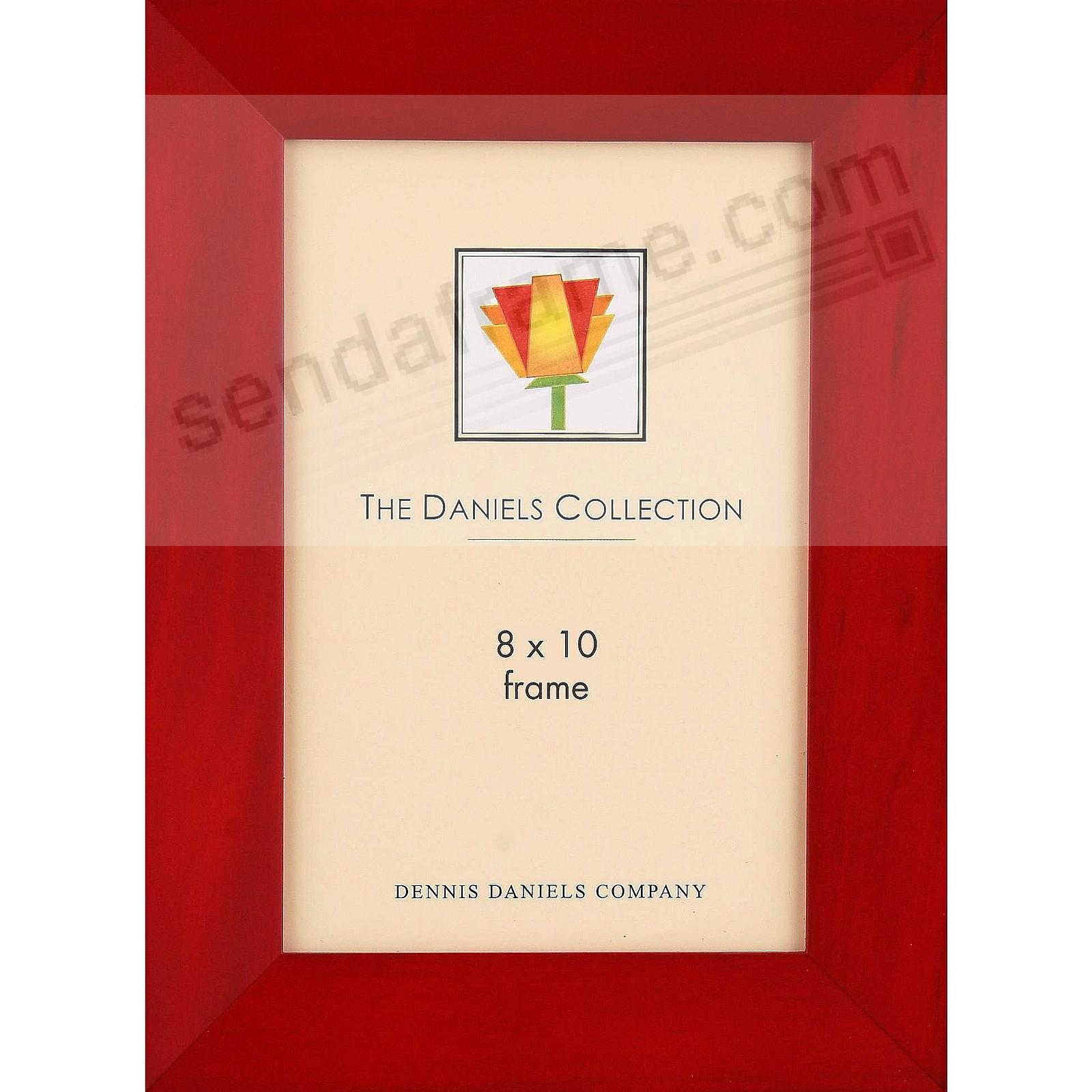 Rich bevelled Rosewood stained classic 8x10 frame by Dennis Daniels®