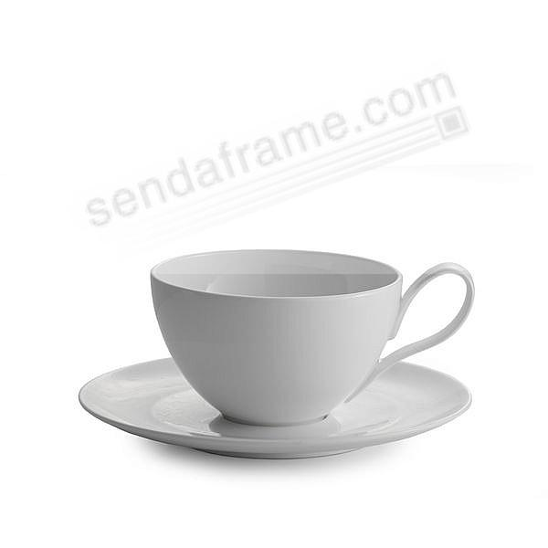 Skye Café Au Lait Cup and Saucer crafted by Nambe®