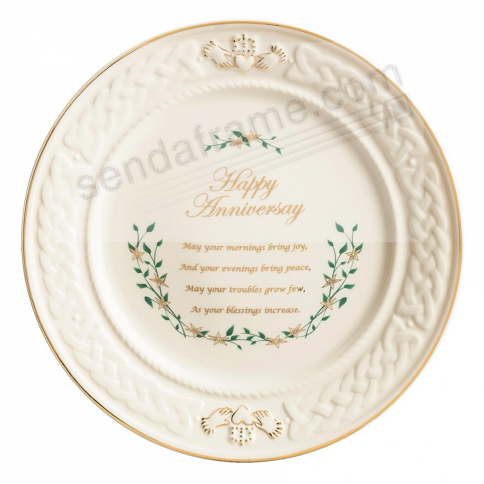 HAPPY ANNIVERSARY PLATE by Belleek®