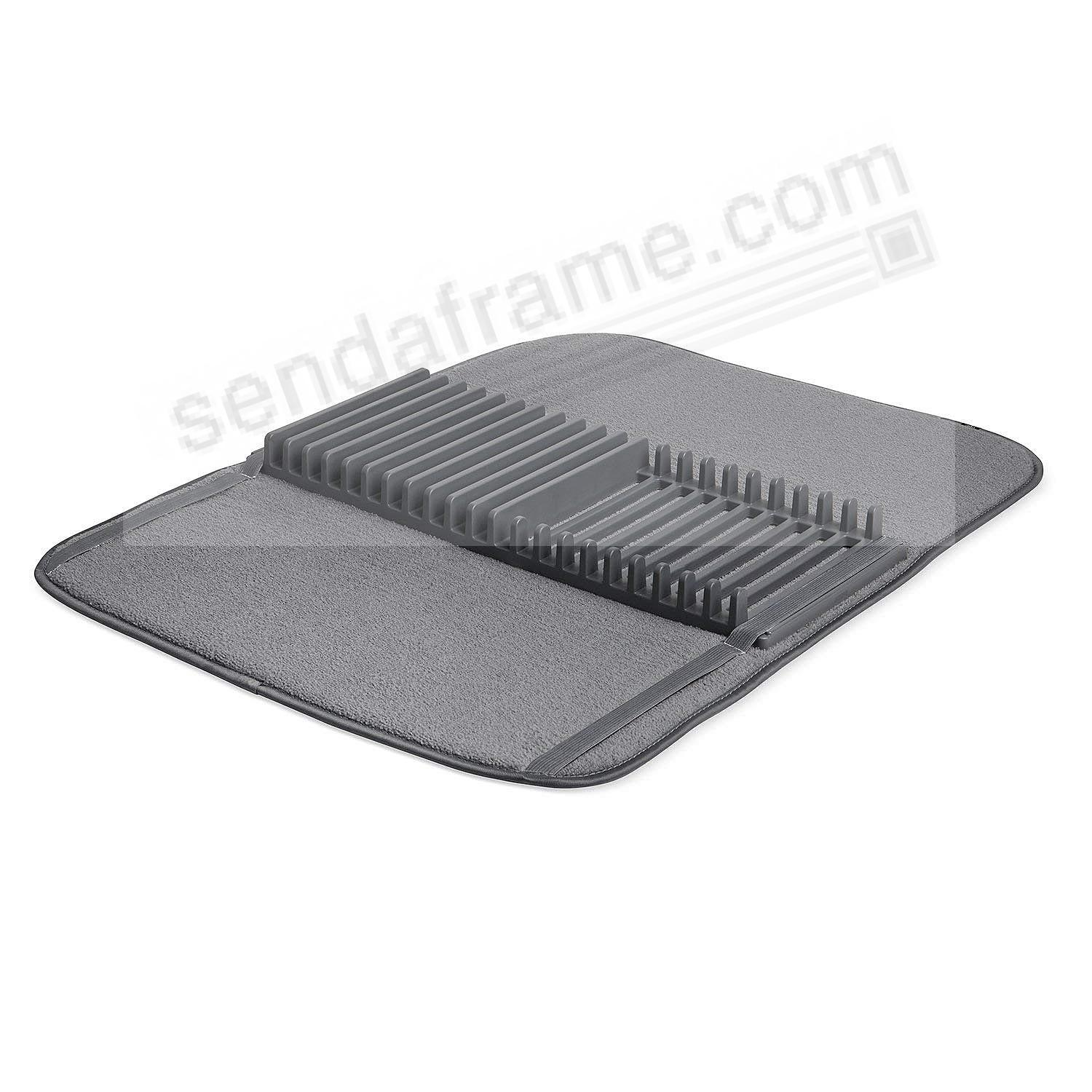 UDRY Drying Rack and Microfiber Dish Mat 24x18 - CHARCOAL by Umbra®
