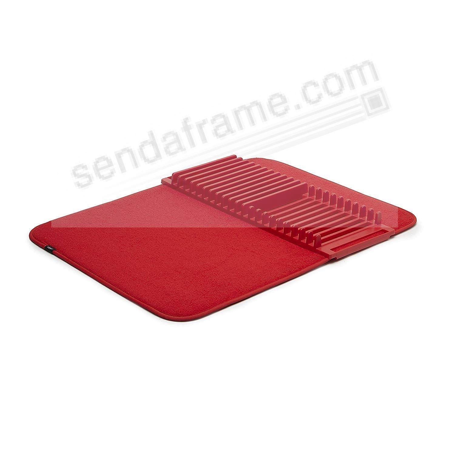 UDRY Drying Rack and Microfiber Dish Mat 24x18 - RED by Umbra®