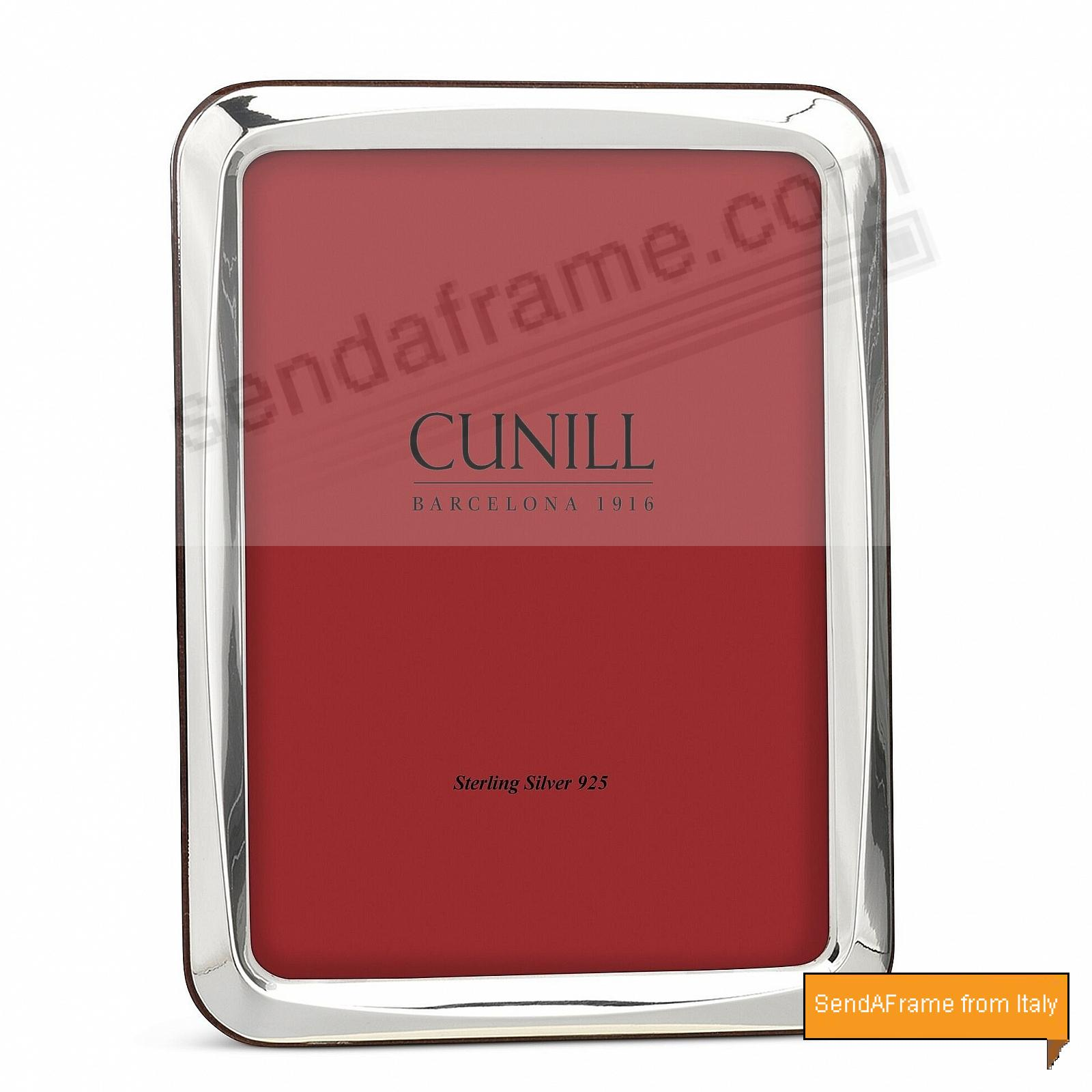 ROUND CORNER NOVA Fine Sterling Silver 4x6 Frame by Cunill® Italy