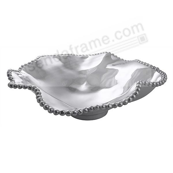 The Original PEARLED WAVY 17½in LARGE SERVING BOWL crafted by Mariposa®
