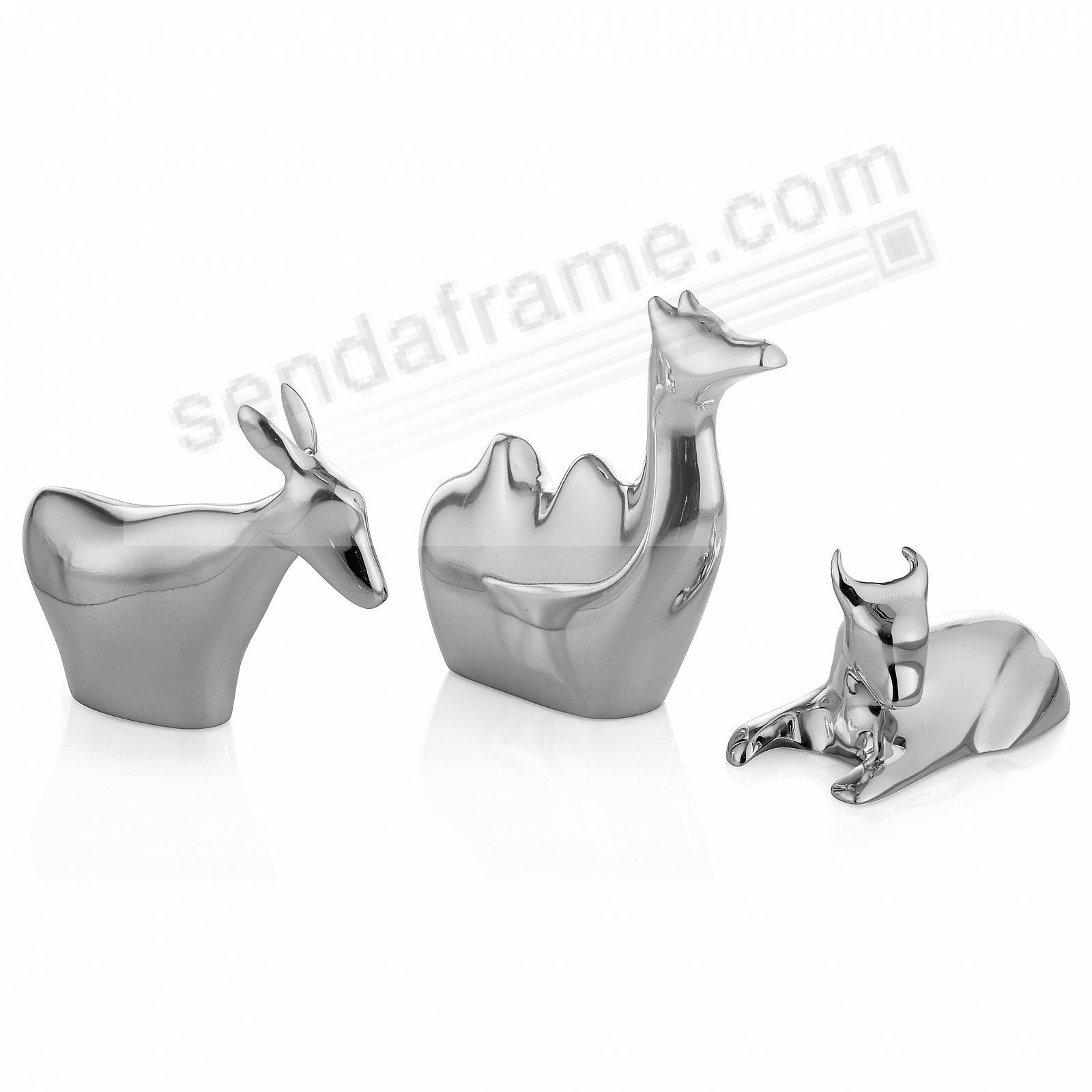 Miniature NATIVITY ANIMALS Figurine Set crafted by Nambe®