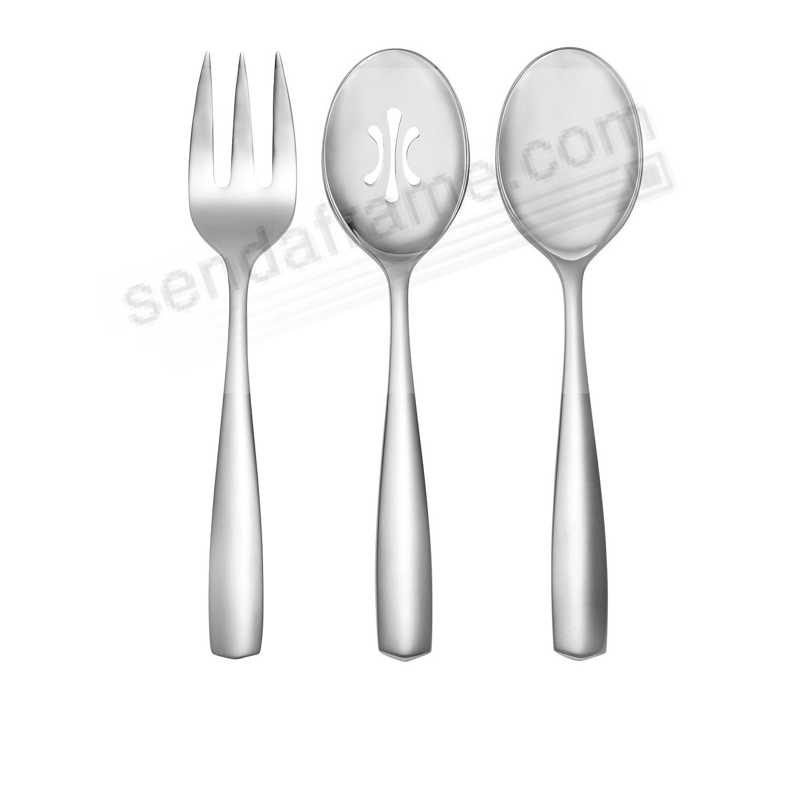 The FJORD 3PC Hostess Set 18/10 Stainless by Nambe®
