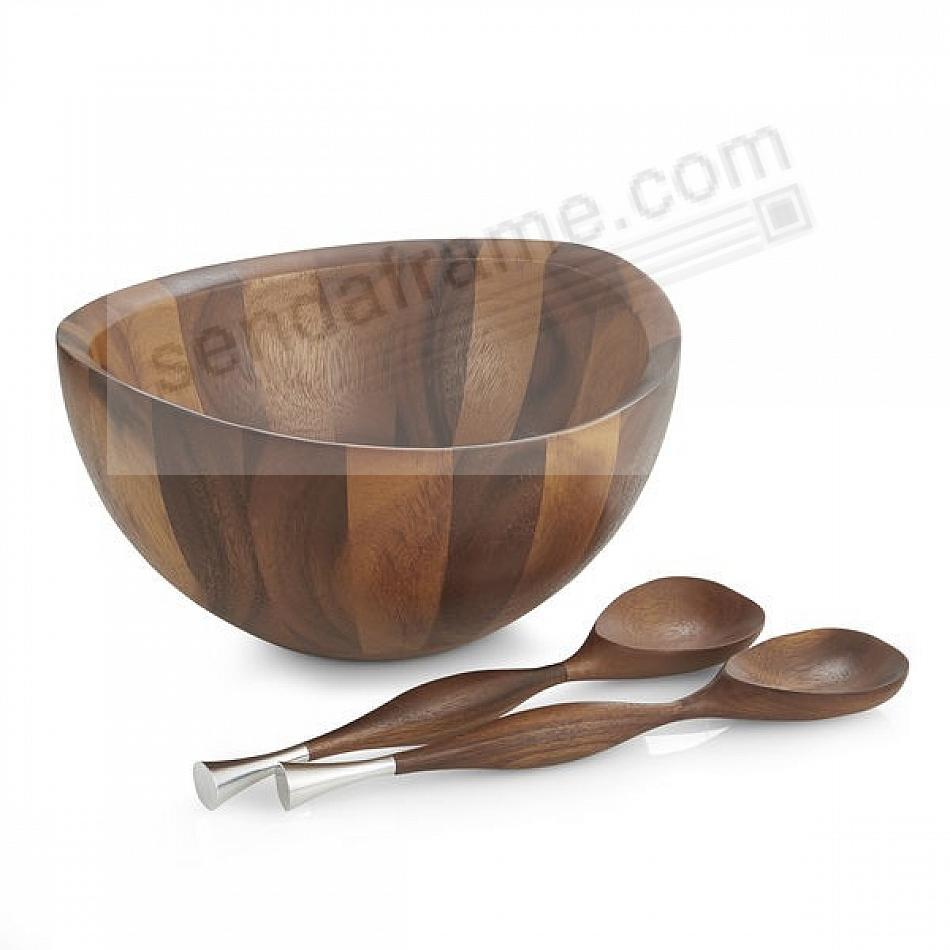 The Original BAYU SALAD BOWL w/SERVERS by Nambe®