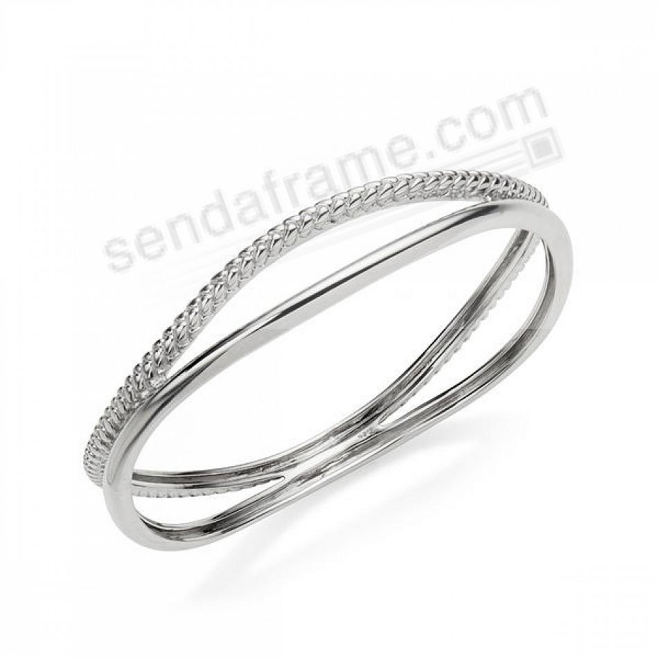 The BRAID BANGLE BRACELET in Fine .925 STERLING SILVER by Nambe®