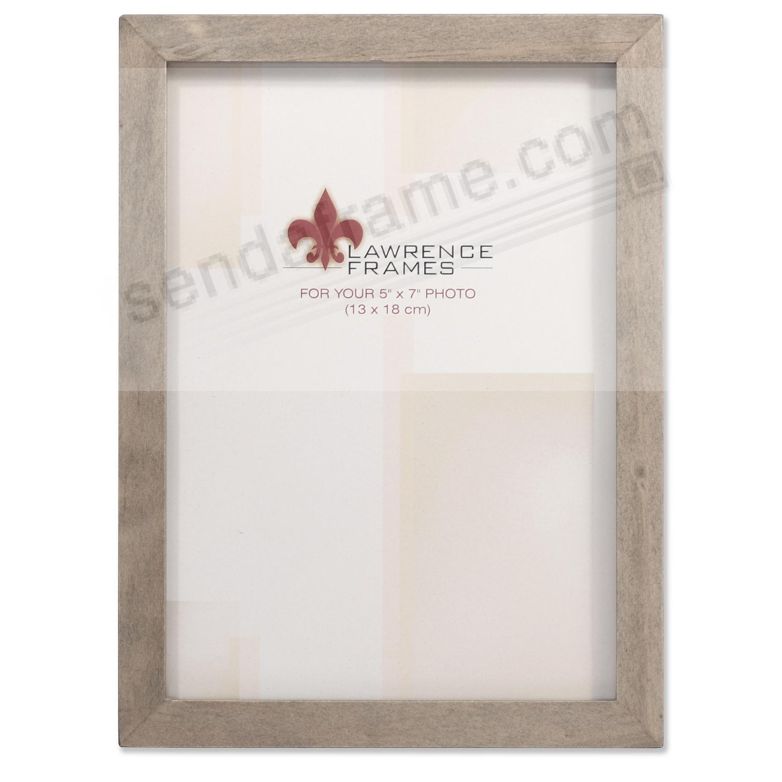 SQUARE CORNER Gray Stain 5x7 frame by Lawrence Frames®