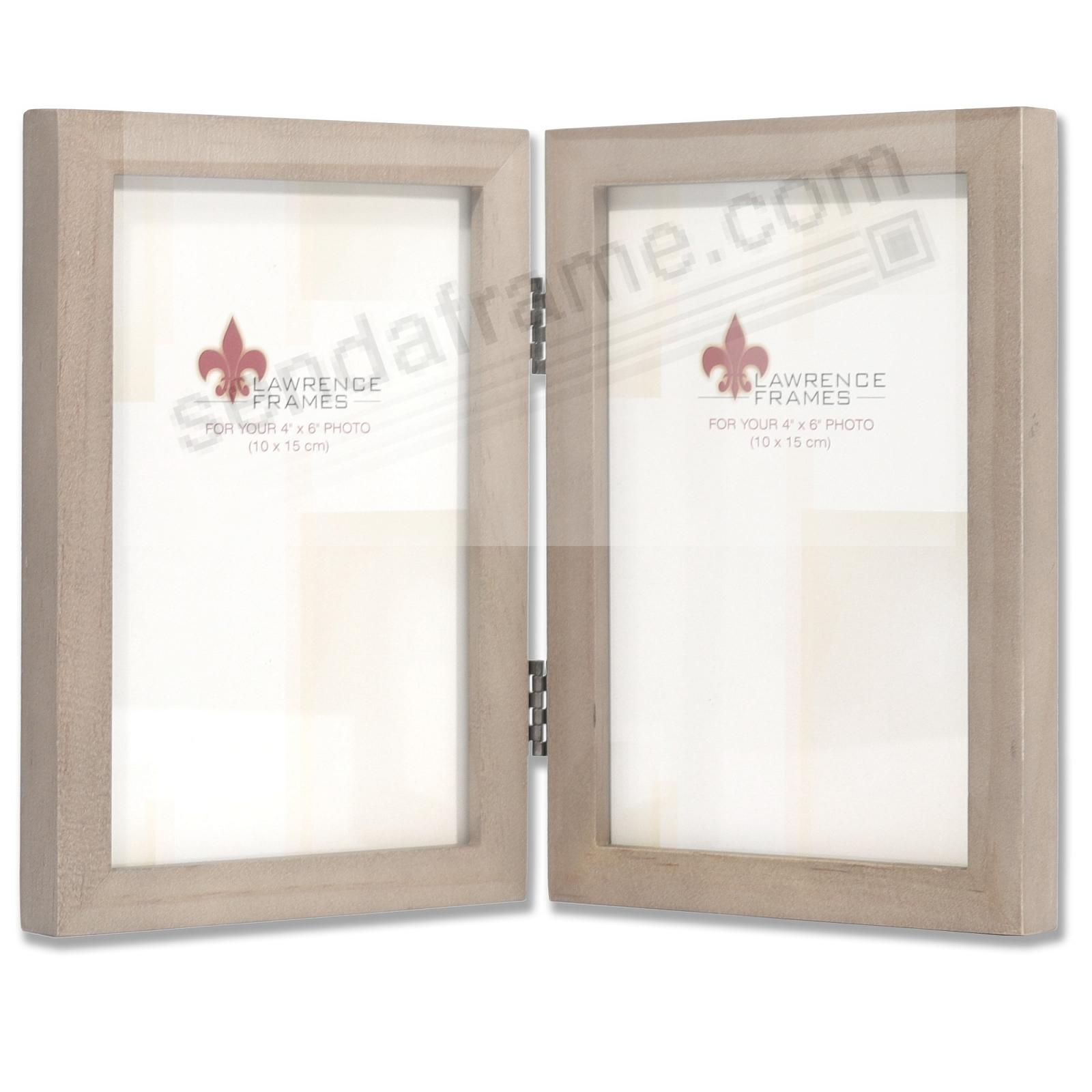 SQUARE CORNER Gray Stain Double Hinged 4x6 frame by Lawrence Frames®