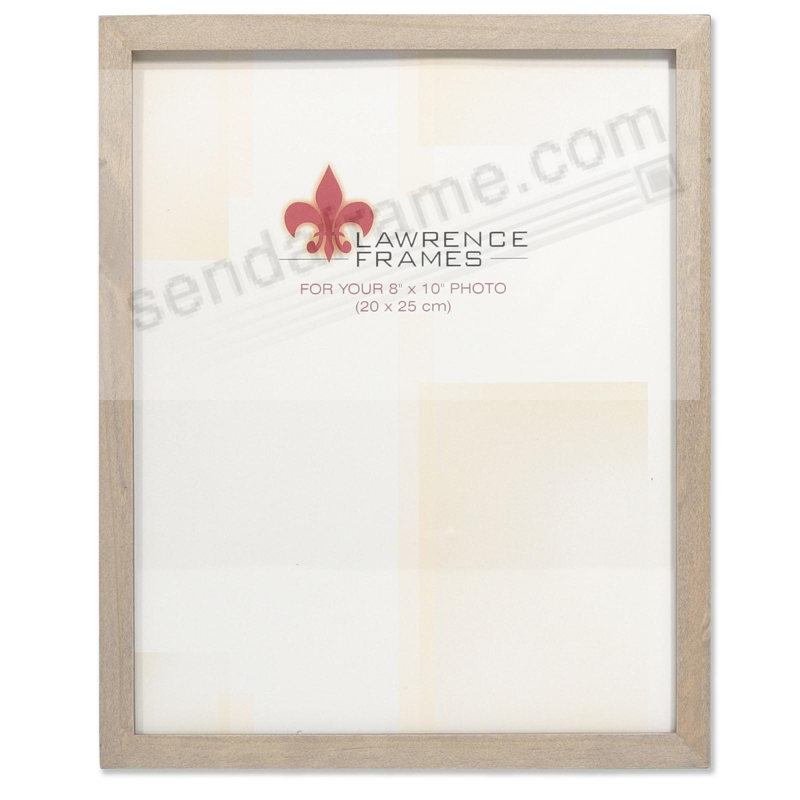 SQUARE CORNER Gray Stain 8x10 frame by Lawrence Frames®