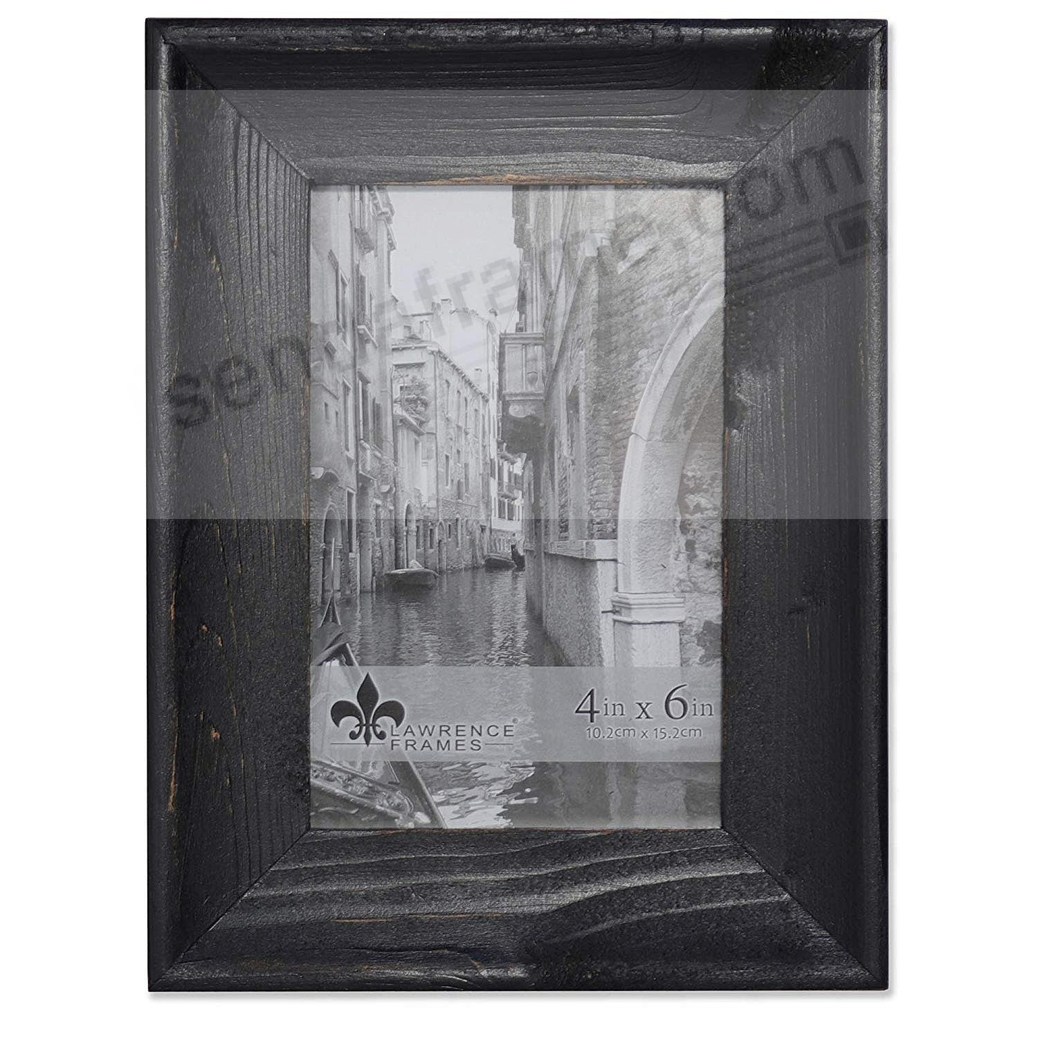 Weathered WHITNEY Black 4x6 Frame by Lawrence®