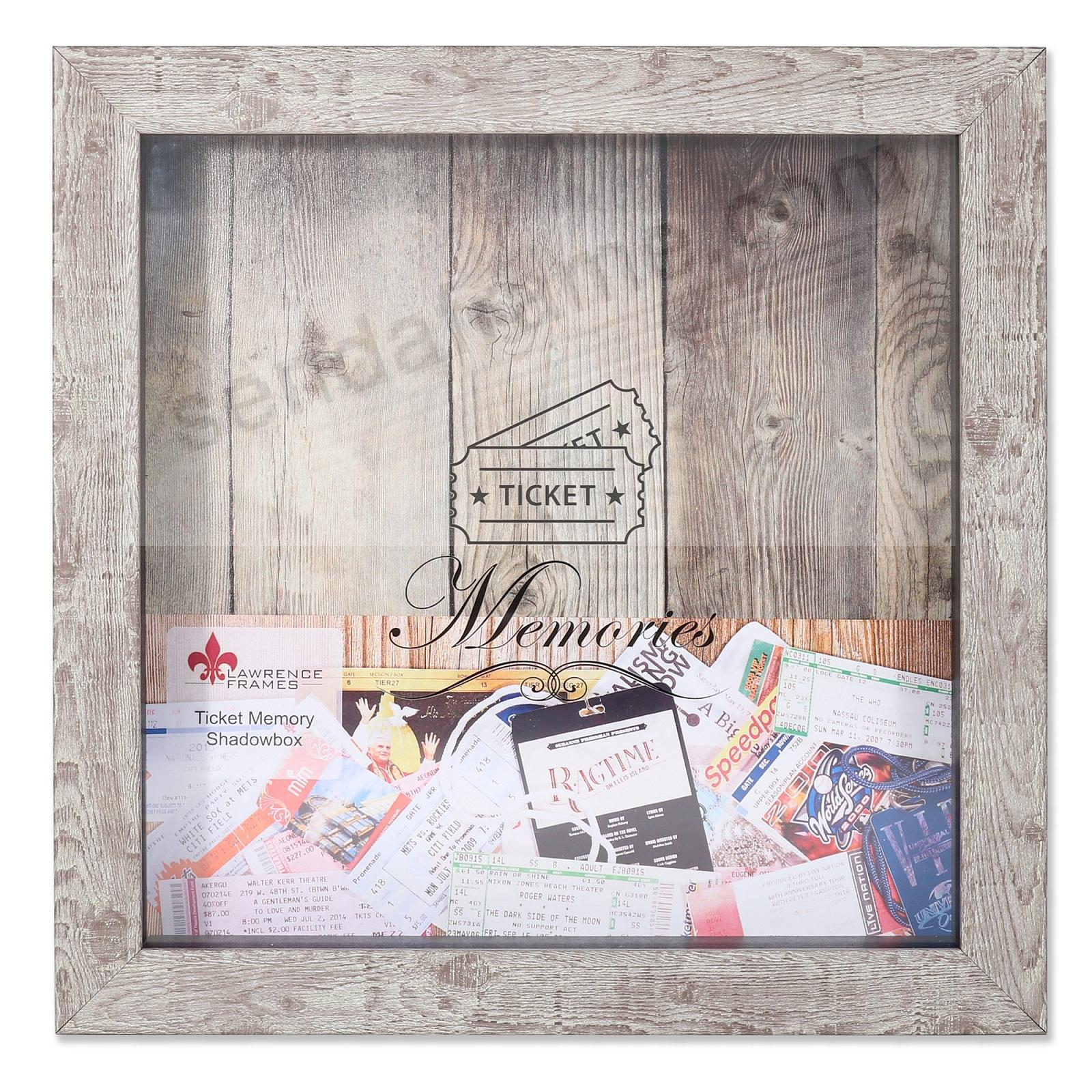 TICKET HOLDER Birch ShadowBox 10x10 frame by Lawrence®