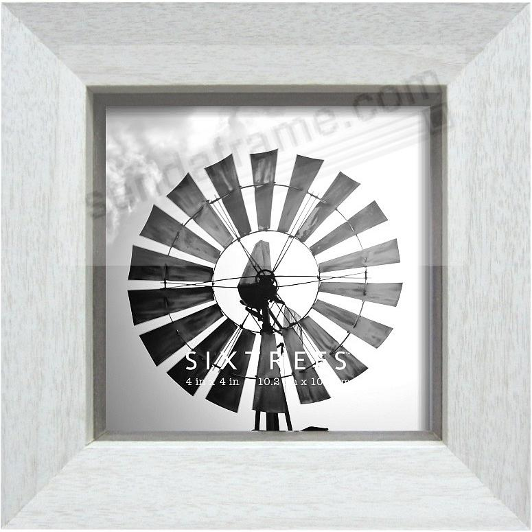 WHITE/GREY LAWRENCE 4x4 Frame by Sixtrees® - Picture Frames
