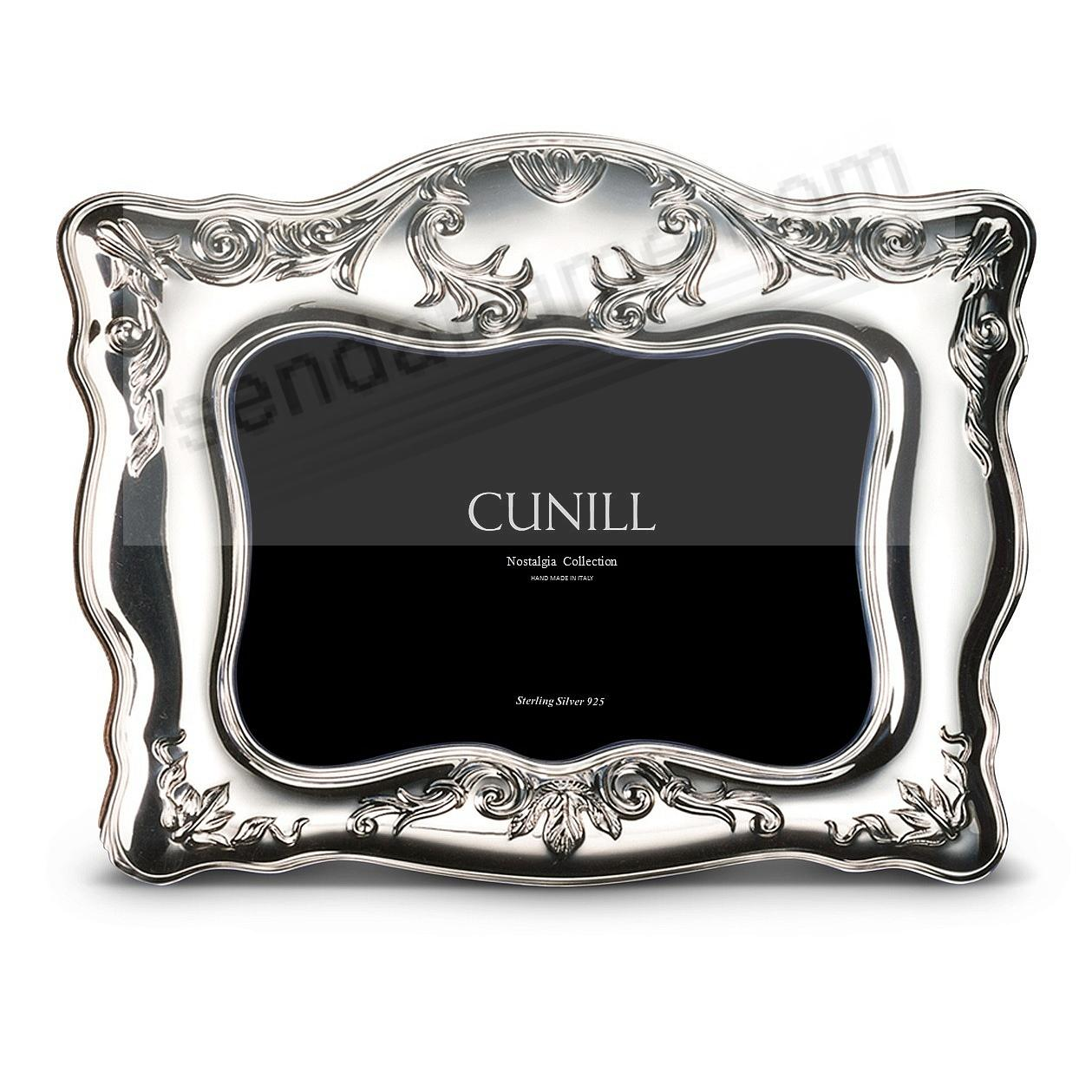 NAPLES Sterling Silver Luxe 5x7 frame<br>by Cunill®