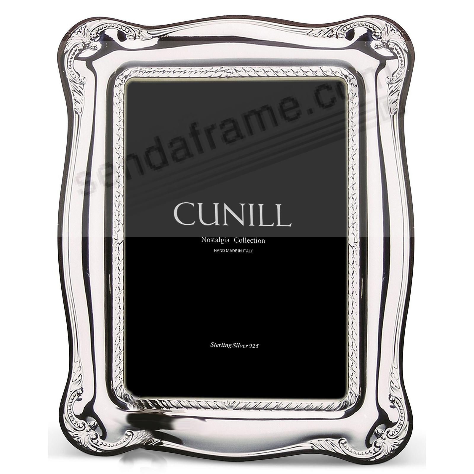 ATHENA ROPE Sterling Silver Luxe 5x7 frame<br>by Cunill®