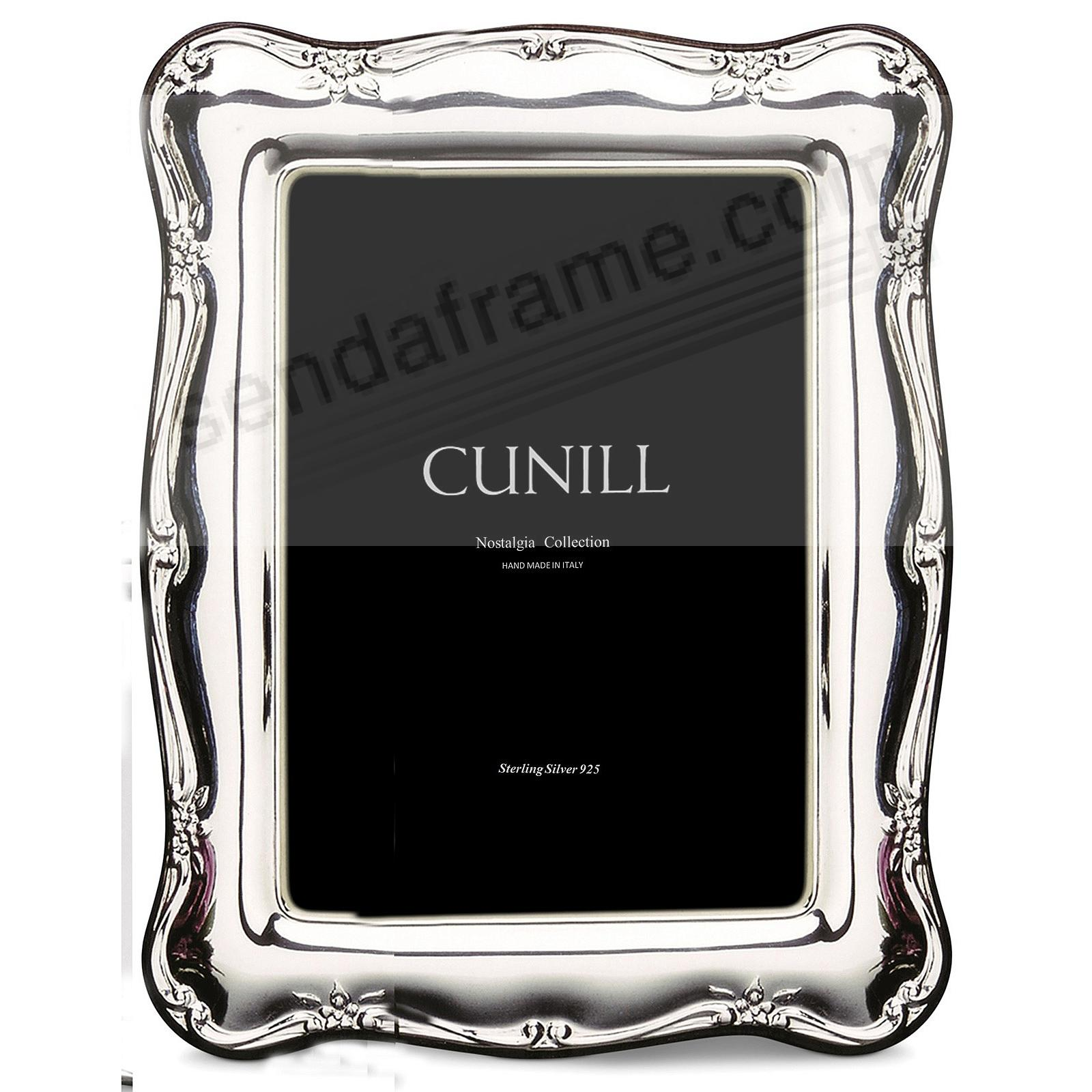 ATHENA FLORAL Nostalgia Group Sterling Silver 5x7 frame<br>by Cunill®