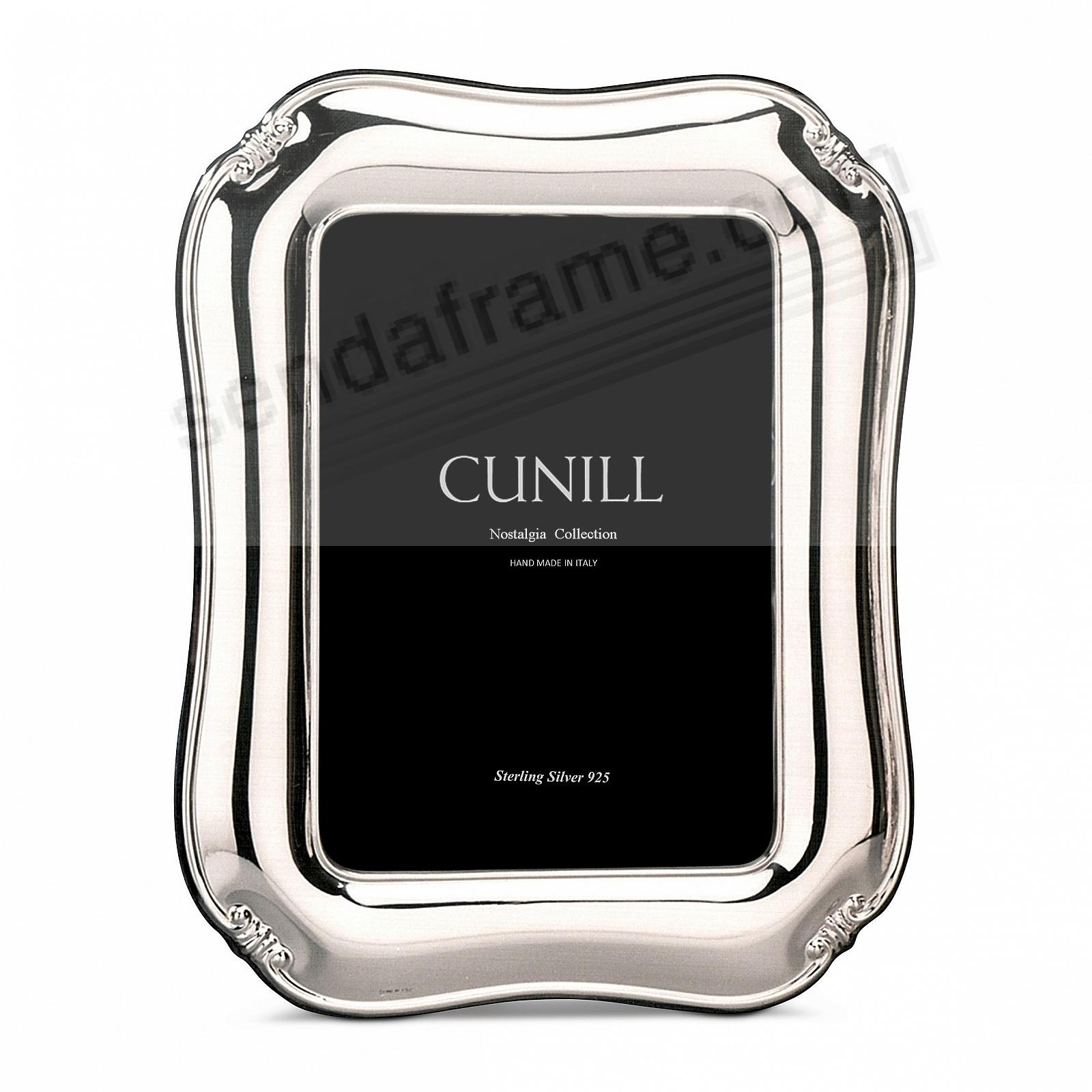ALEXANDRIA Sterling Silver Luxe 5x7 frame<br>by Cunill®