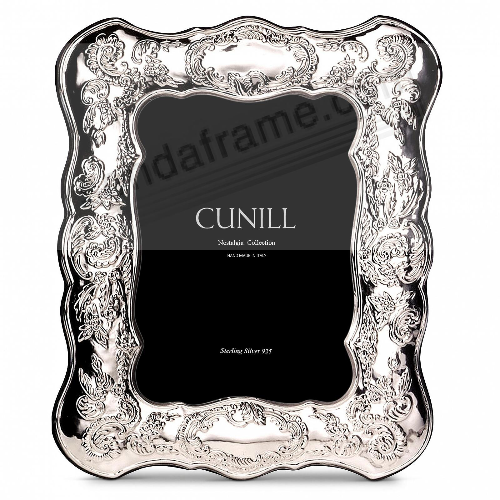 VICTORIA Sterling Silver Luxe 5x7 frame<br>by Cunill®