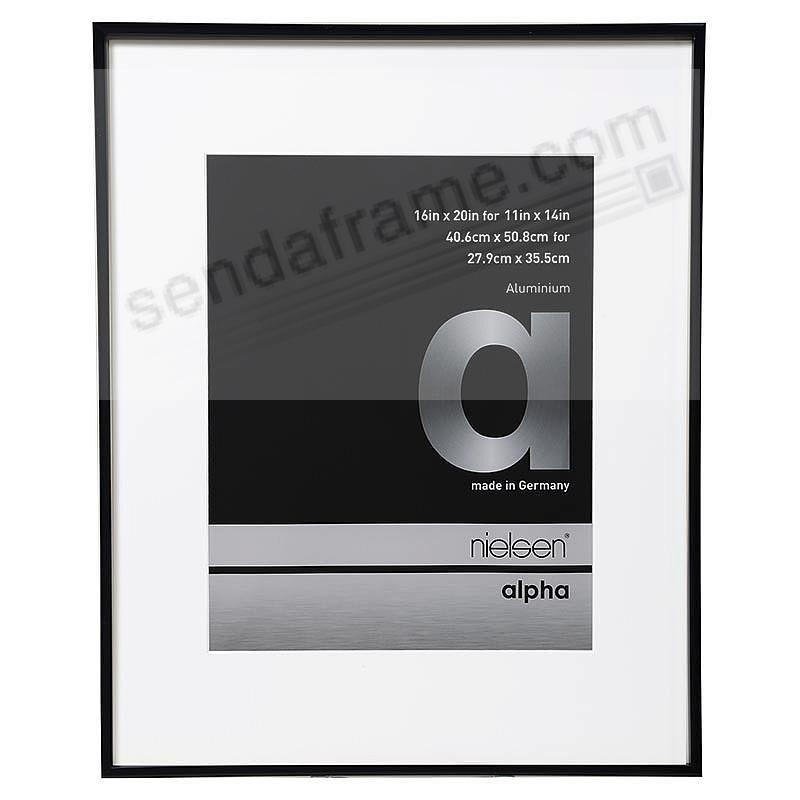 ALPHA Metallic Shiny-Black 16x20/11x14 frame by Nielsen®