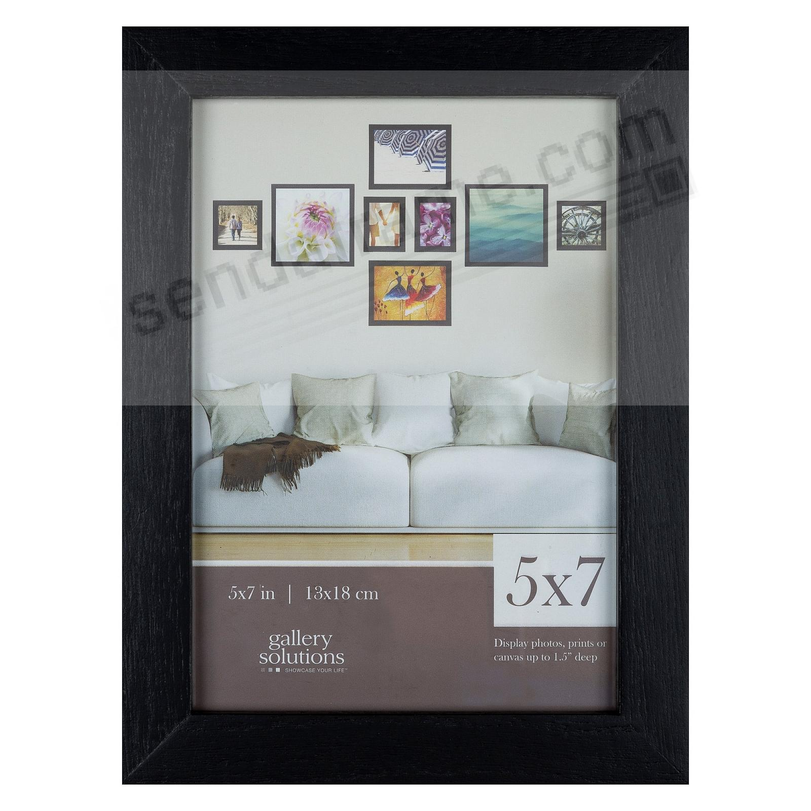 BLACK GALLERY 5x7 frame by Gallery Solutions®