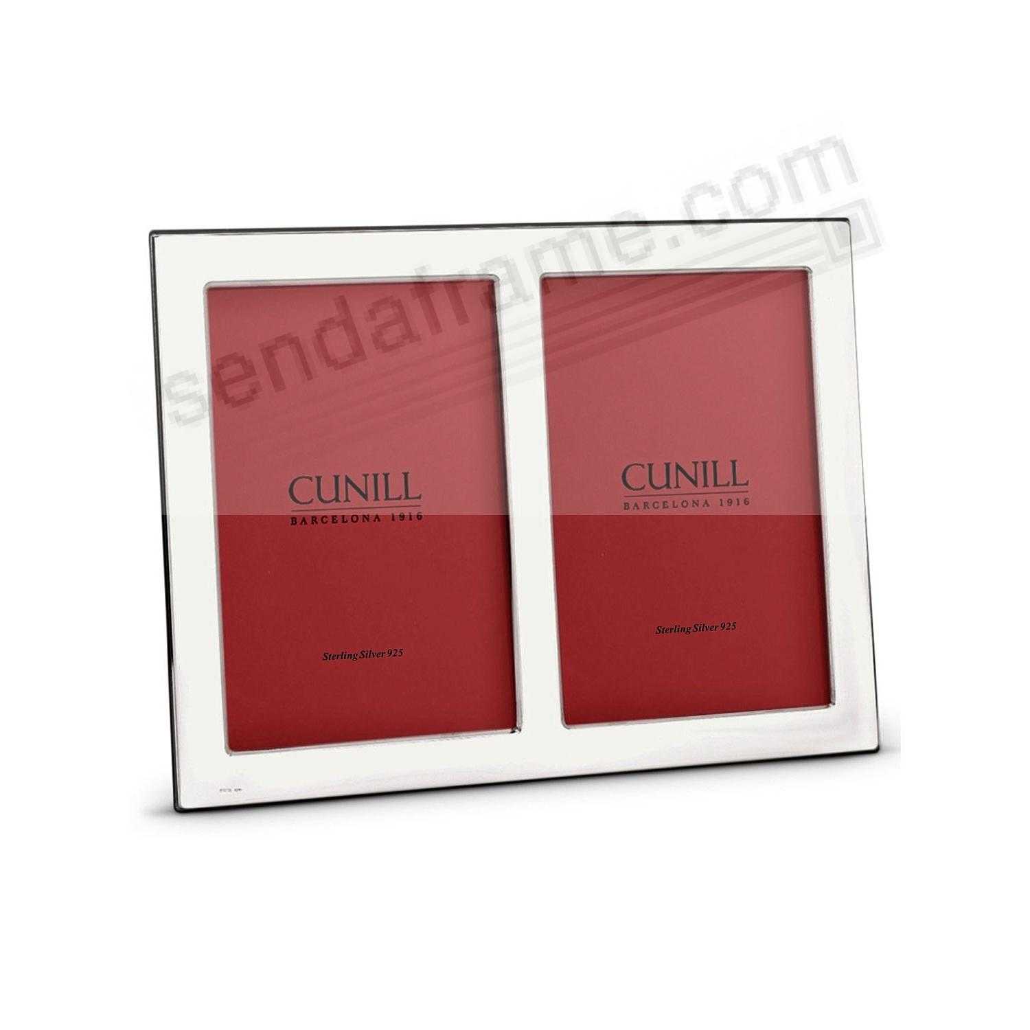 PLAIN Fine Sterling Silver Double 2x3 frame by Cunill®