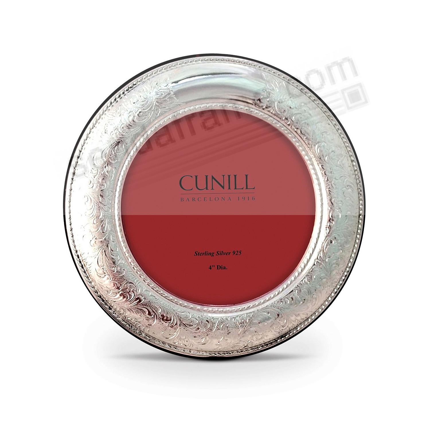 VINTAGE Pure Sterling Silver 4in Round frame<br>by Cunill®