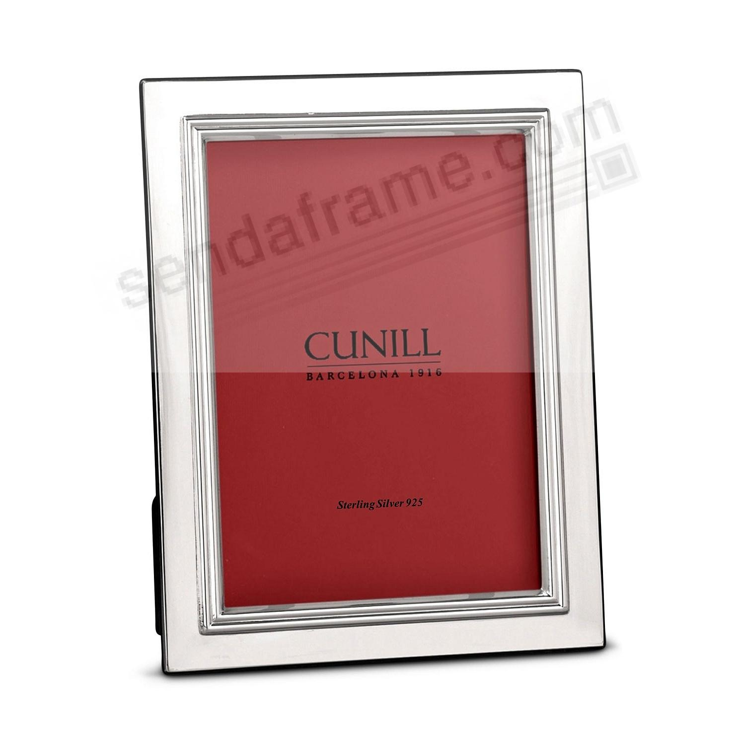 BORDERED Fine Sterling Silver 8x10/7x9 frame<br>by Cunill® Italy