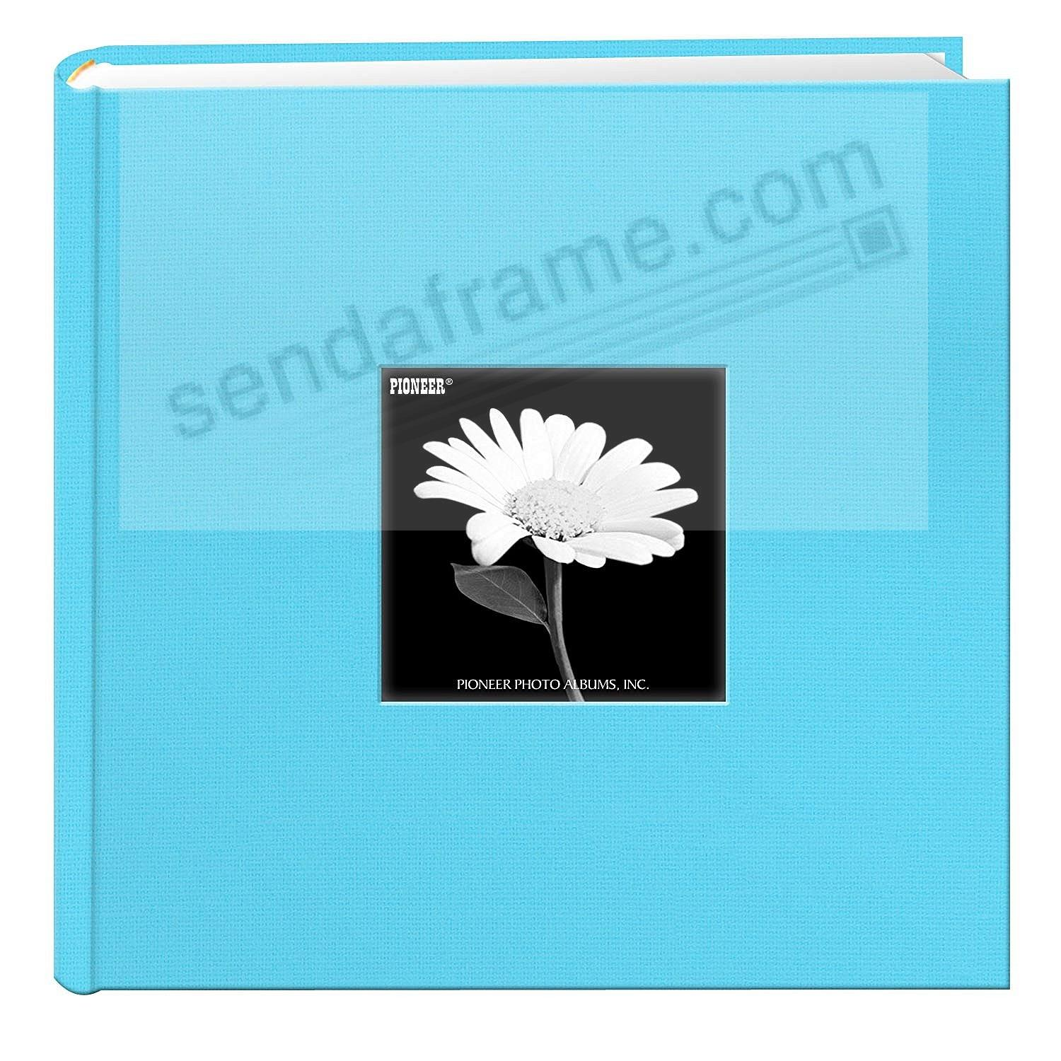 TURQUOISE BLUE Cloth 2-up frame cover photo album by Pioneer®