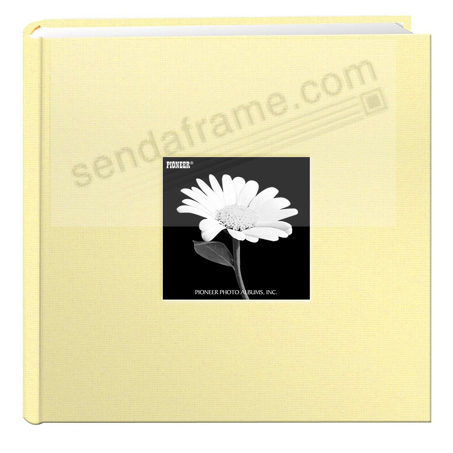SOFT YELLOW Cloth 2-up frame cover photo album by Pioneer®