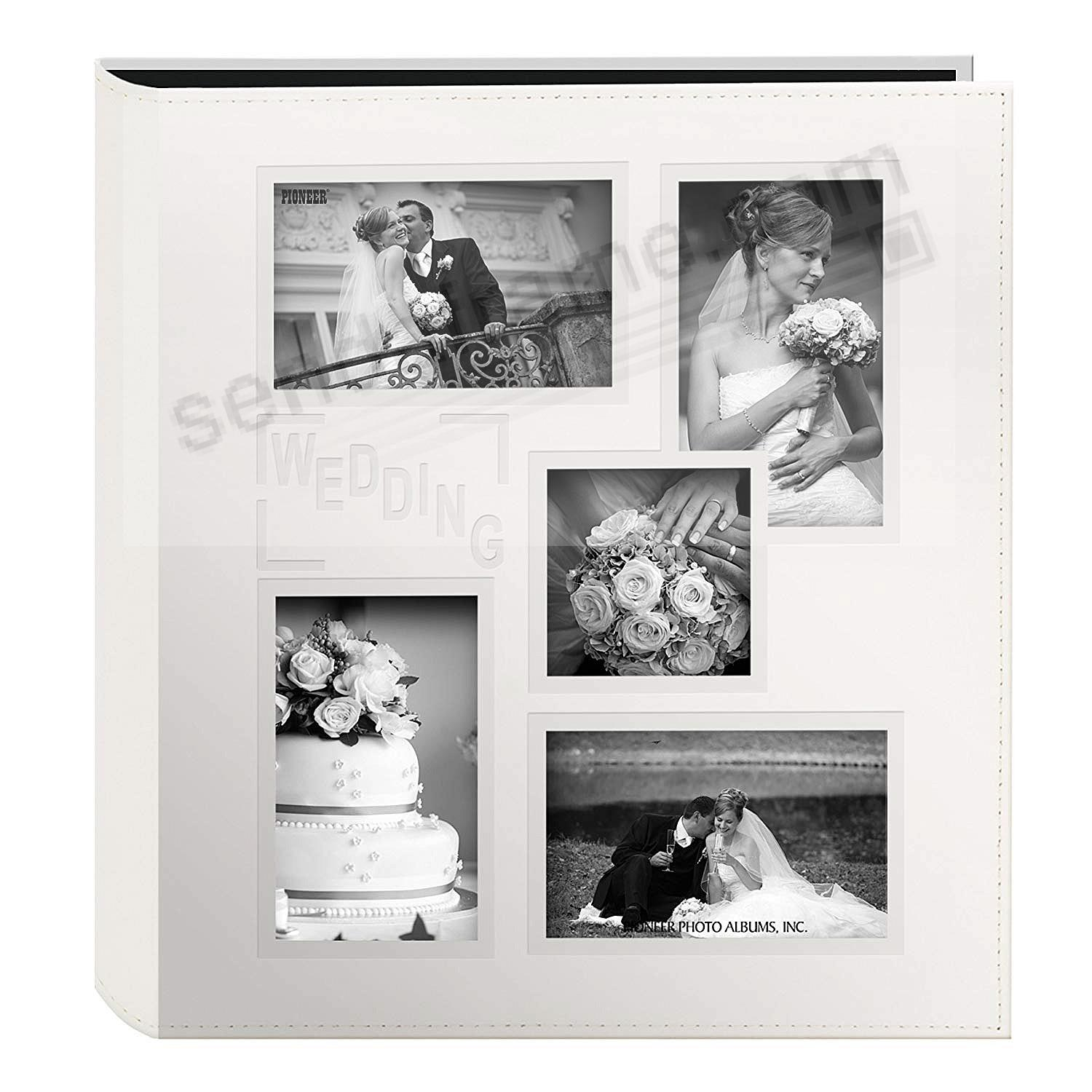 Collage Cover Frame Embossed Wedding Album - Ivory - by PIONEER