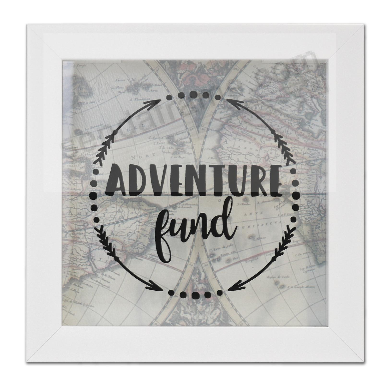 ADVENTURE FUND White ShadowBox Bank frame by Lawrence®