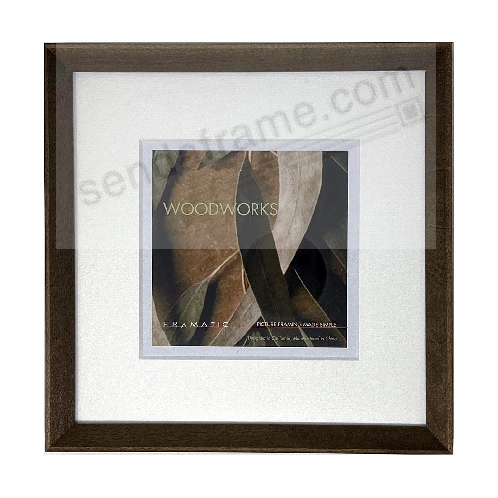 WOODWORKS BARN GREY Matted 10x10/8x8 by FRAMATIC®