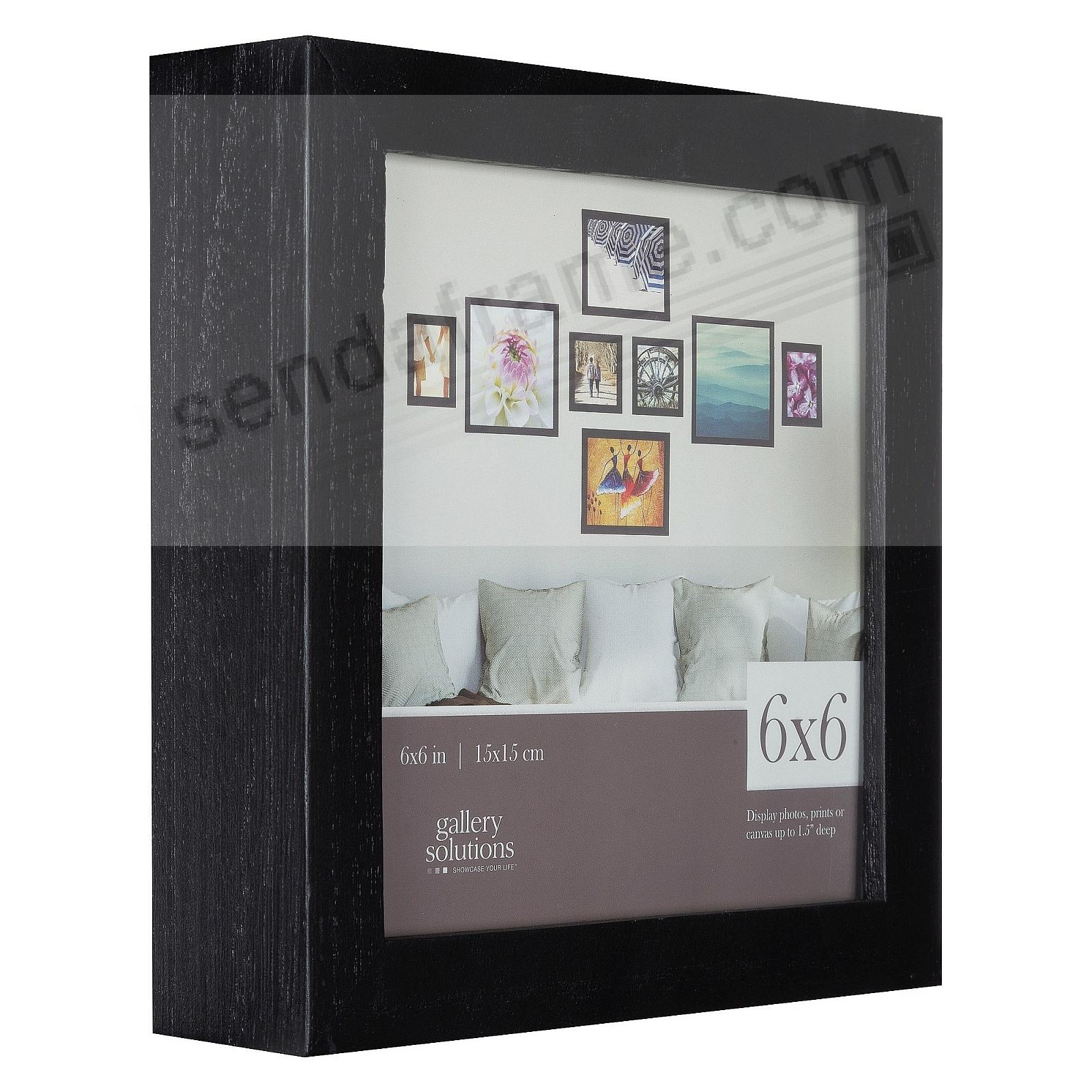 BLACK GALLERY 6x6 frame by Gallery Solutions®