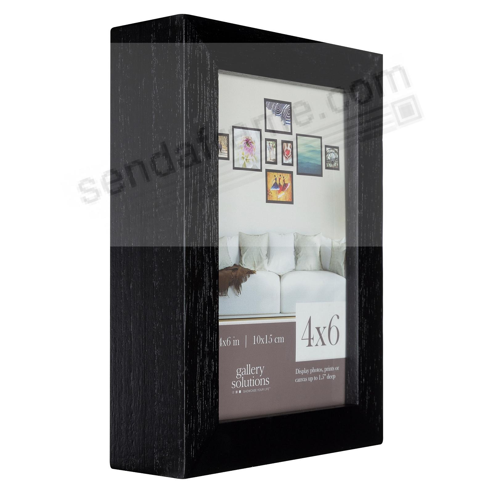 BLACK GALLERY 4x6 frame by Gallery Solutions®
