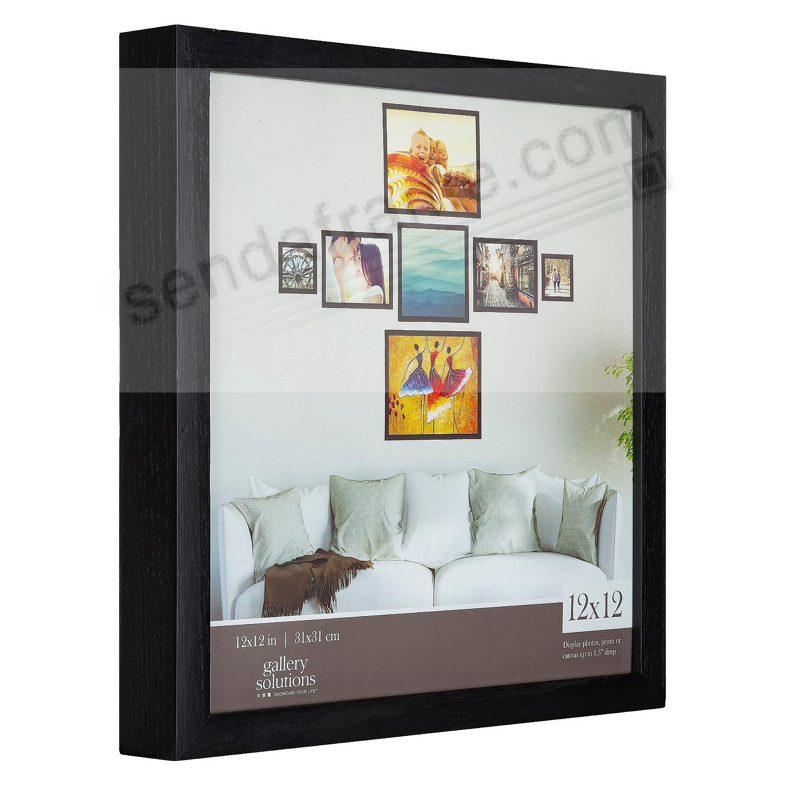 BLACK GALLERY 12x12 frame by Gallery Solutions®