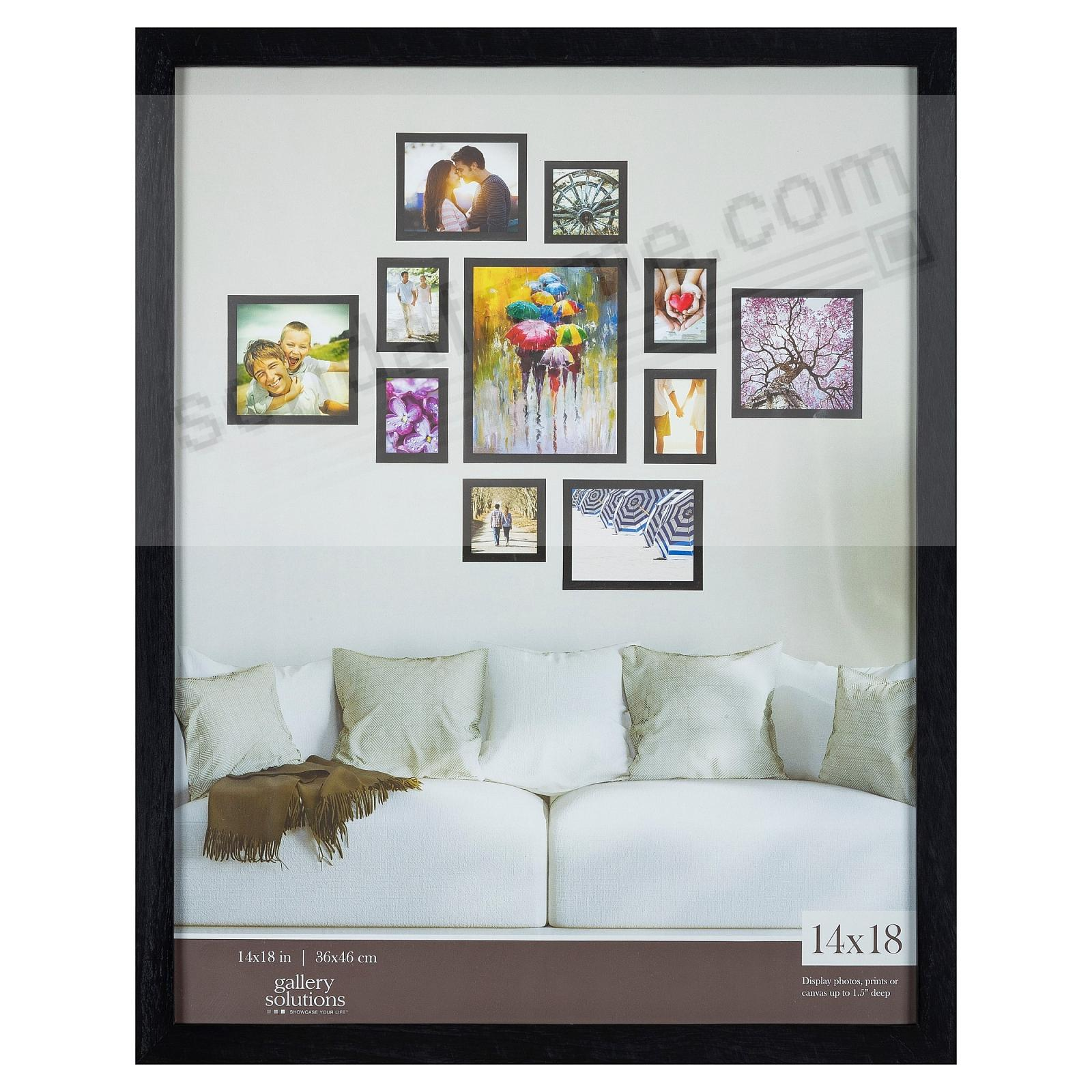 BLACK GALLERY 14x18 frame by Gallery Solutions®